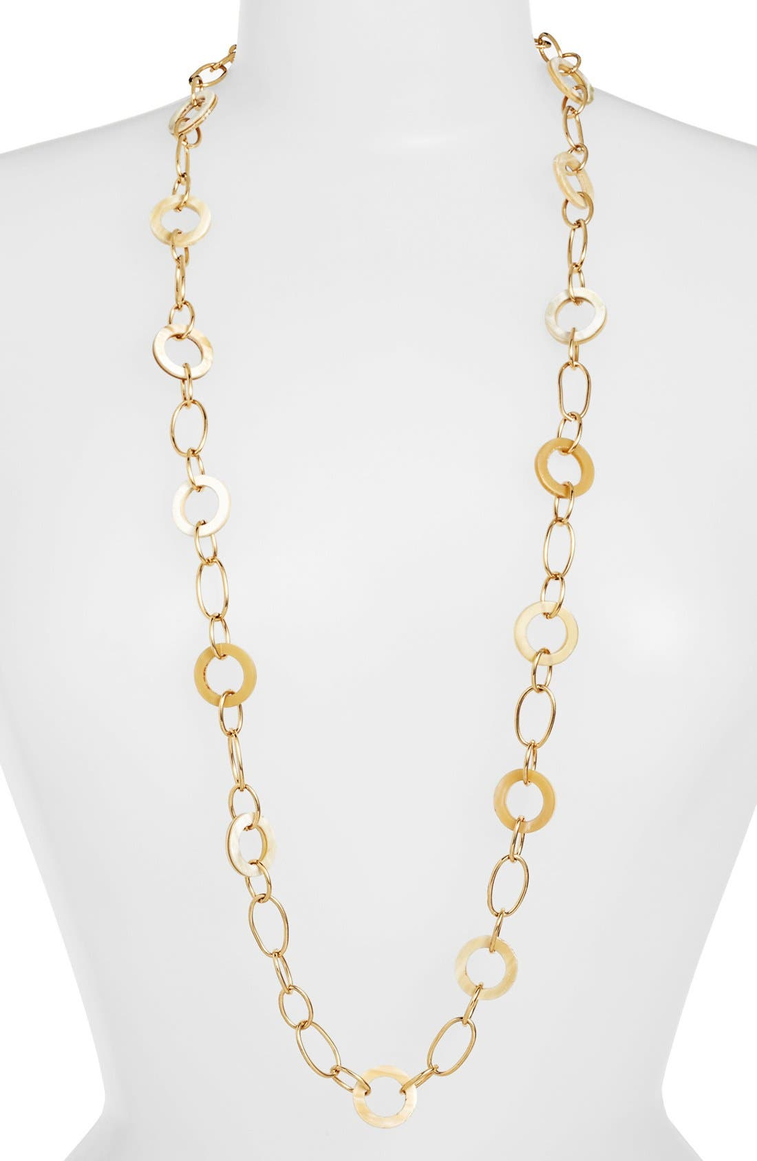 Main Image - Lauren Ralph Lauren Horn & Chain Link Necklace
