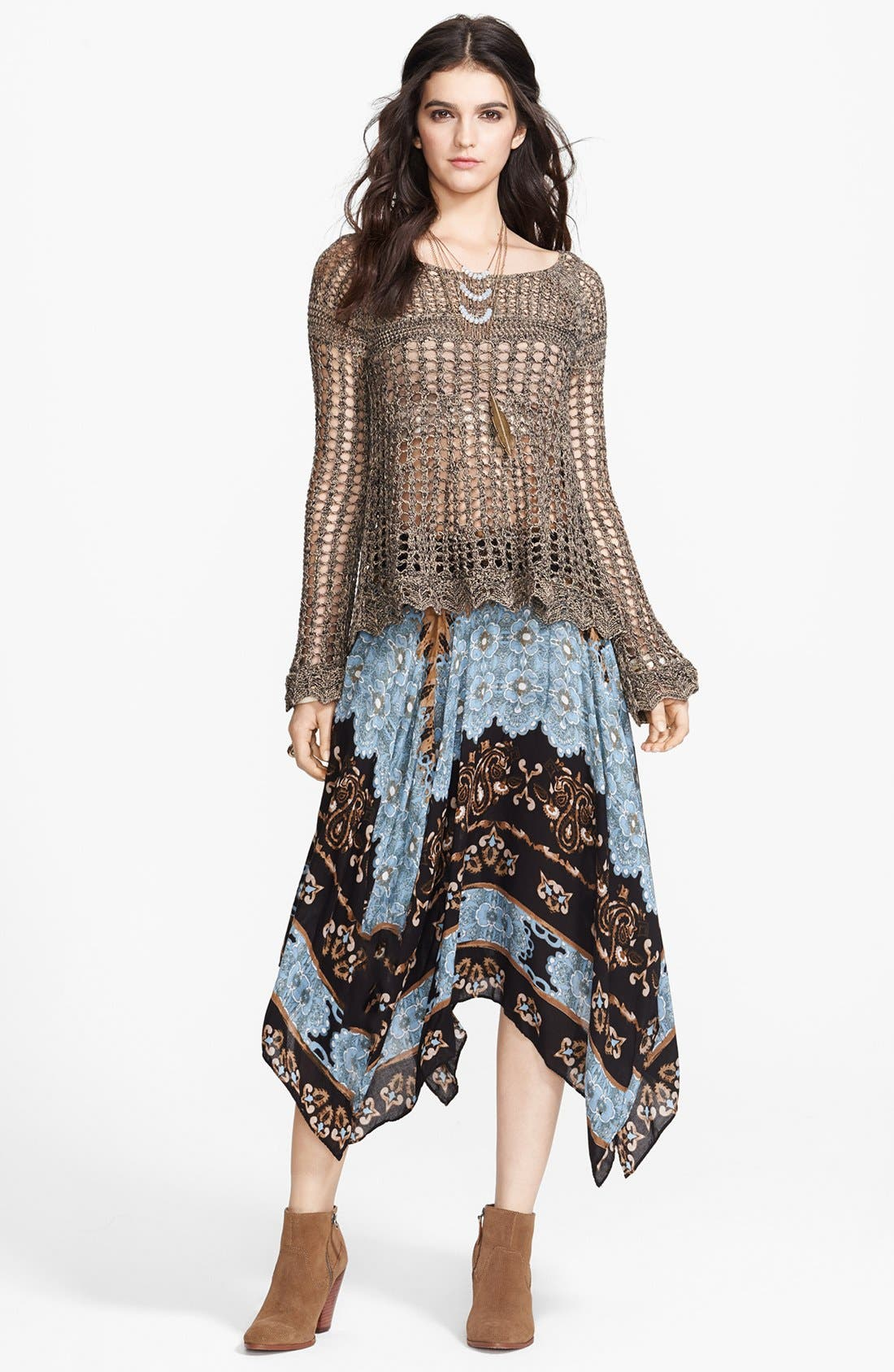Alternate Image 1 Selected - Free People Pullover, Bandeau & Skirt