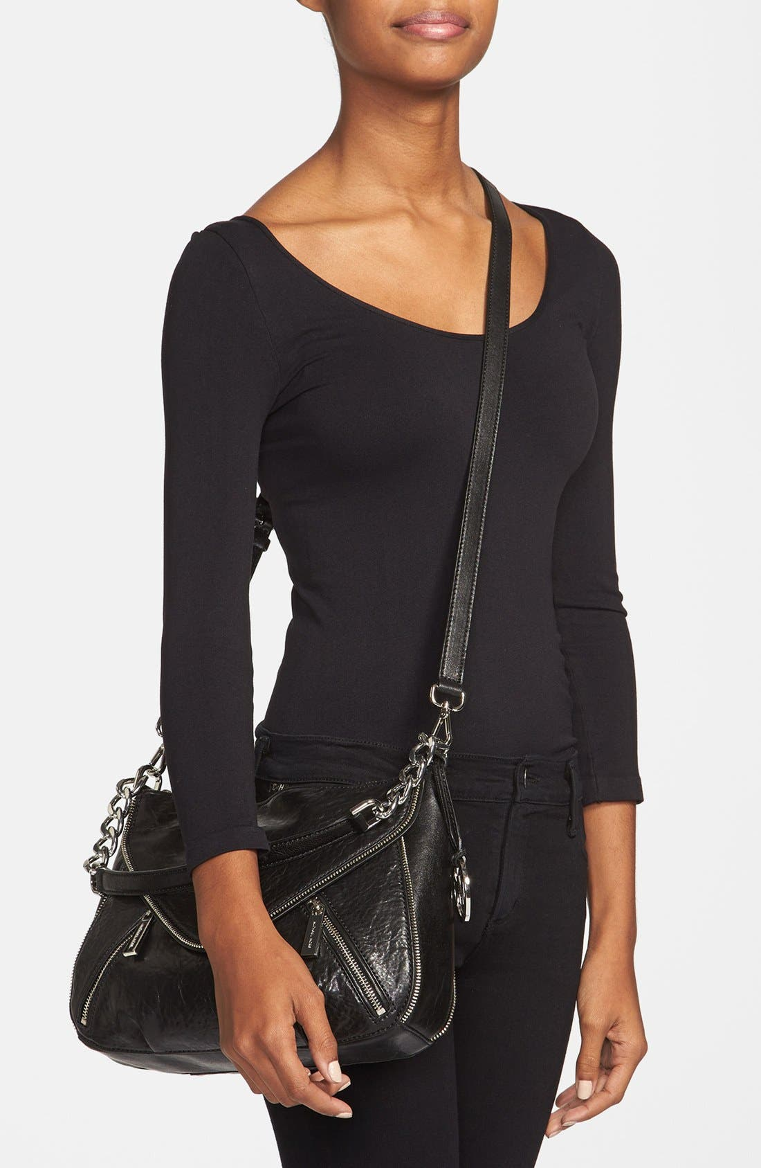 Alternate Image 2  - MICHAEL Michael Kors 'Odette - Medium' Leather Crossbody Bag