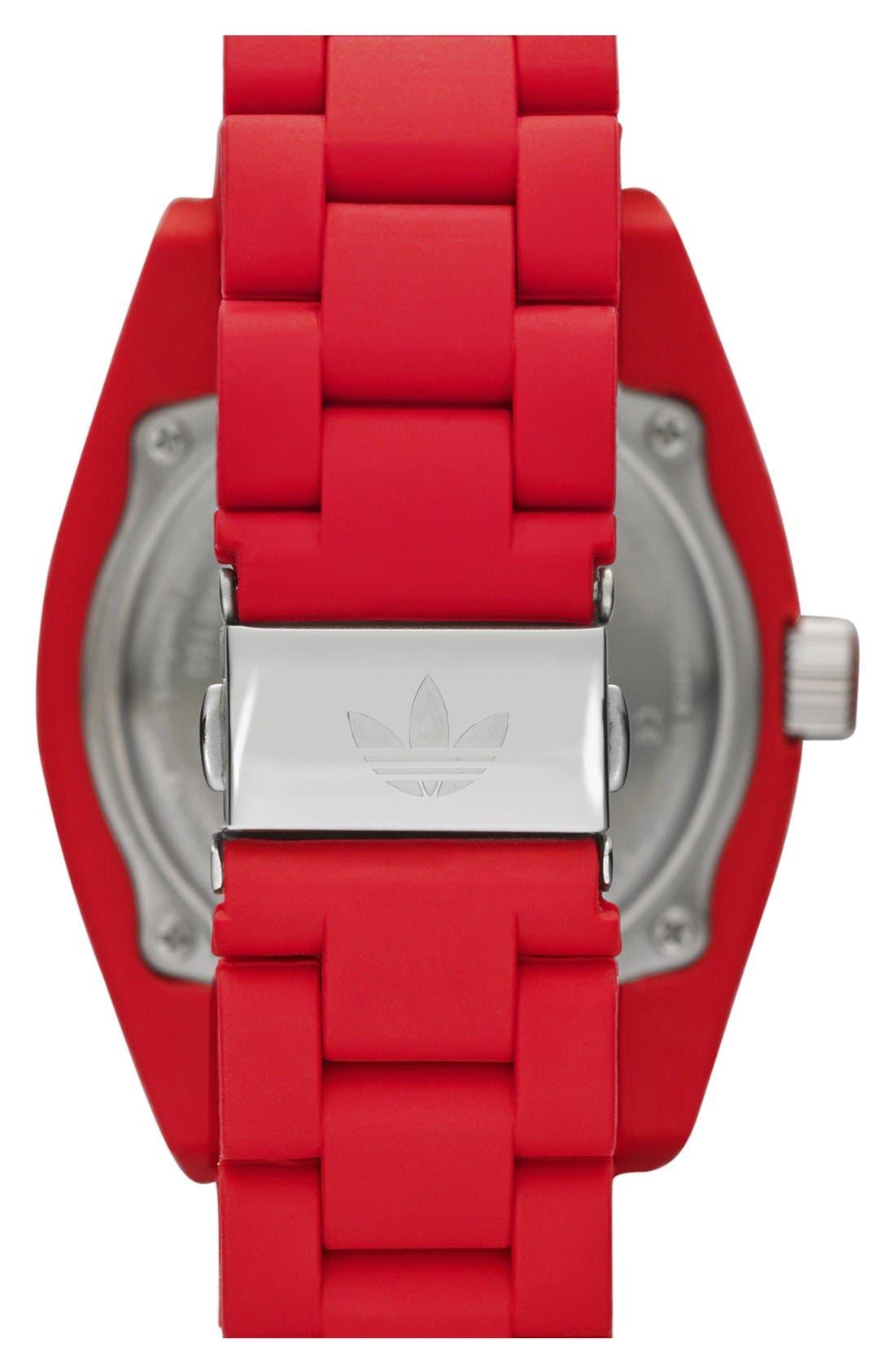 Alternate Image 3  - adidas Originals 'Brisbane' Silicone Bracelet Watch, 42mm