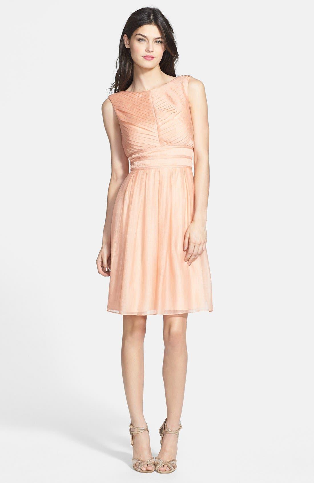 Alternate Image 3  - Ivy & Blu Crinkled Pleat Fit & Flare Dress