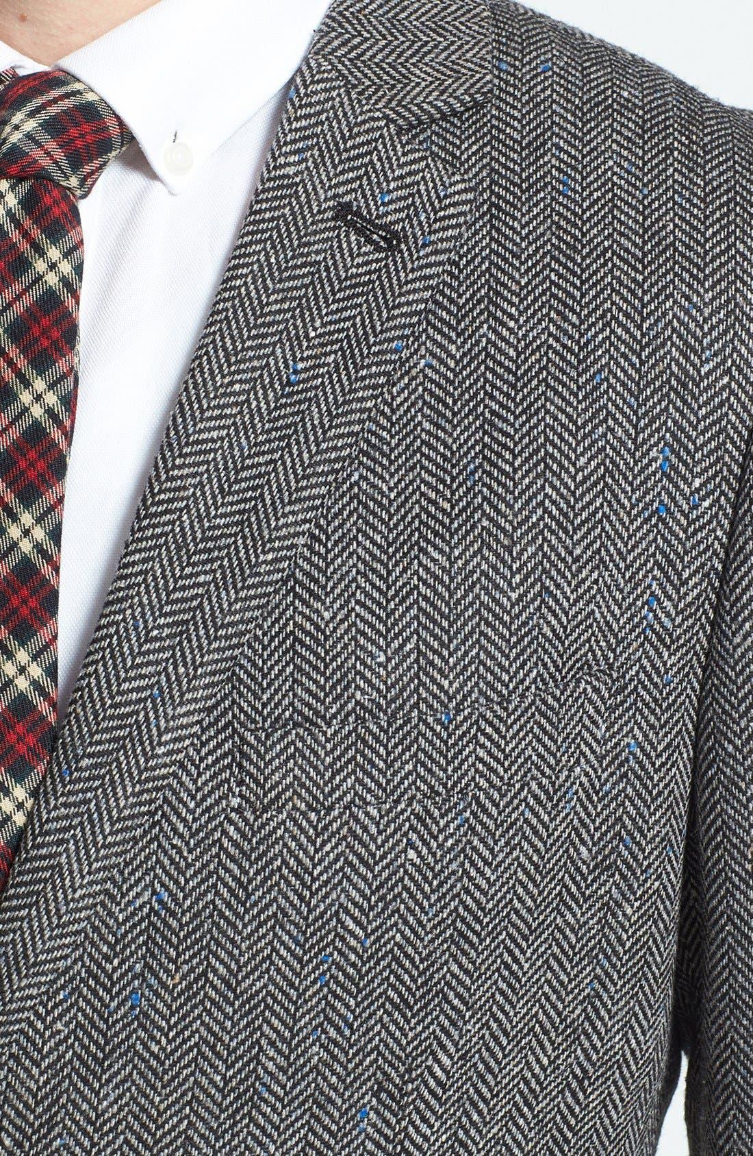 Alternate Image 3  - Topman Herringbone Sportcoat