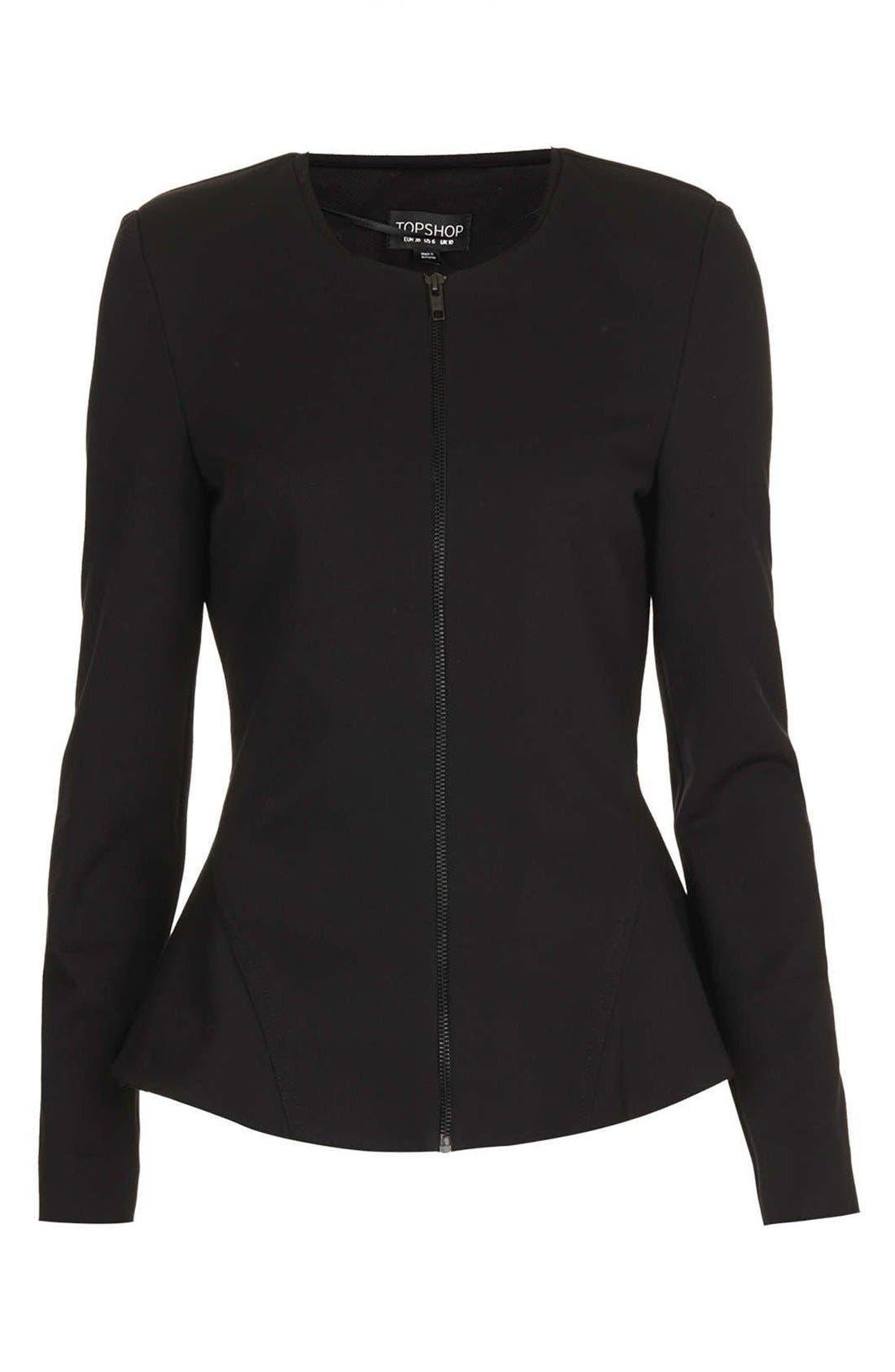 Alternate Image 3  - Topshop 'Nicole' Tailored Peplum Jacket