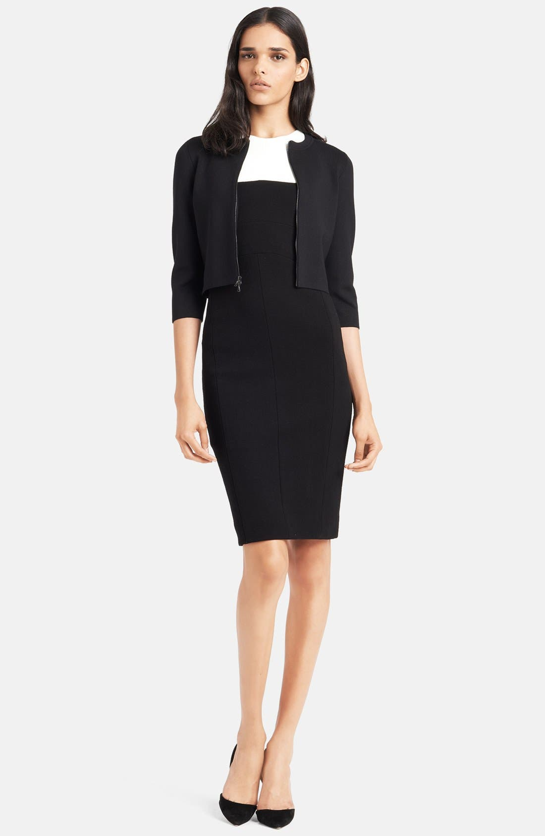 Alternate Image 1 Selected - Narciso Rodriguez Cardigan & Dress