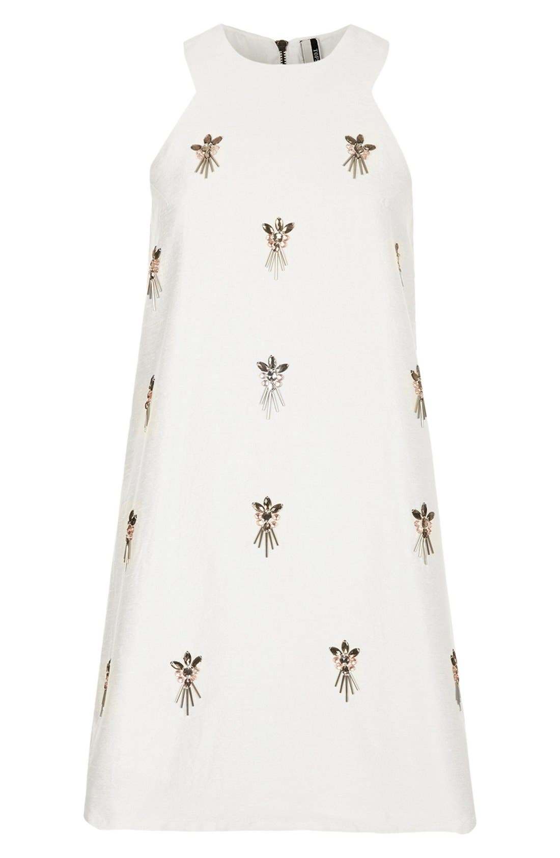 Alternate Image 3  - Topshop Embellished A-Line Dress