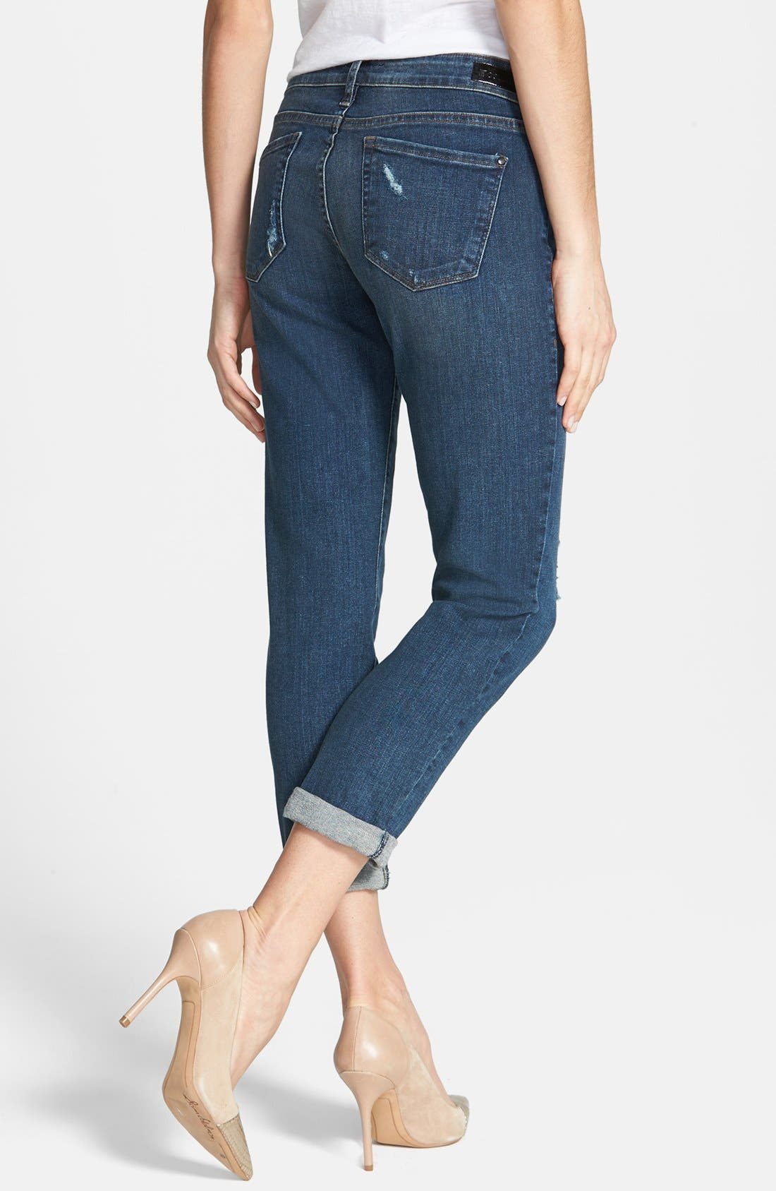 Alternate Image 2  - !iT Collective 'Alex' Boyfriend Jeans (Lakespur)
