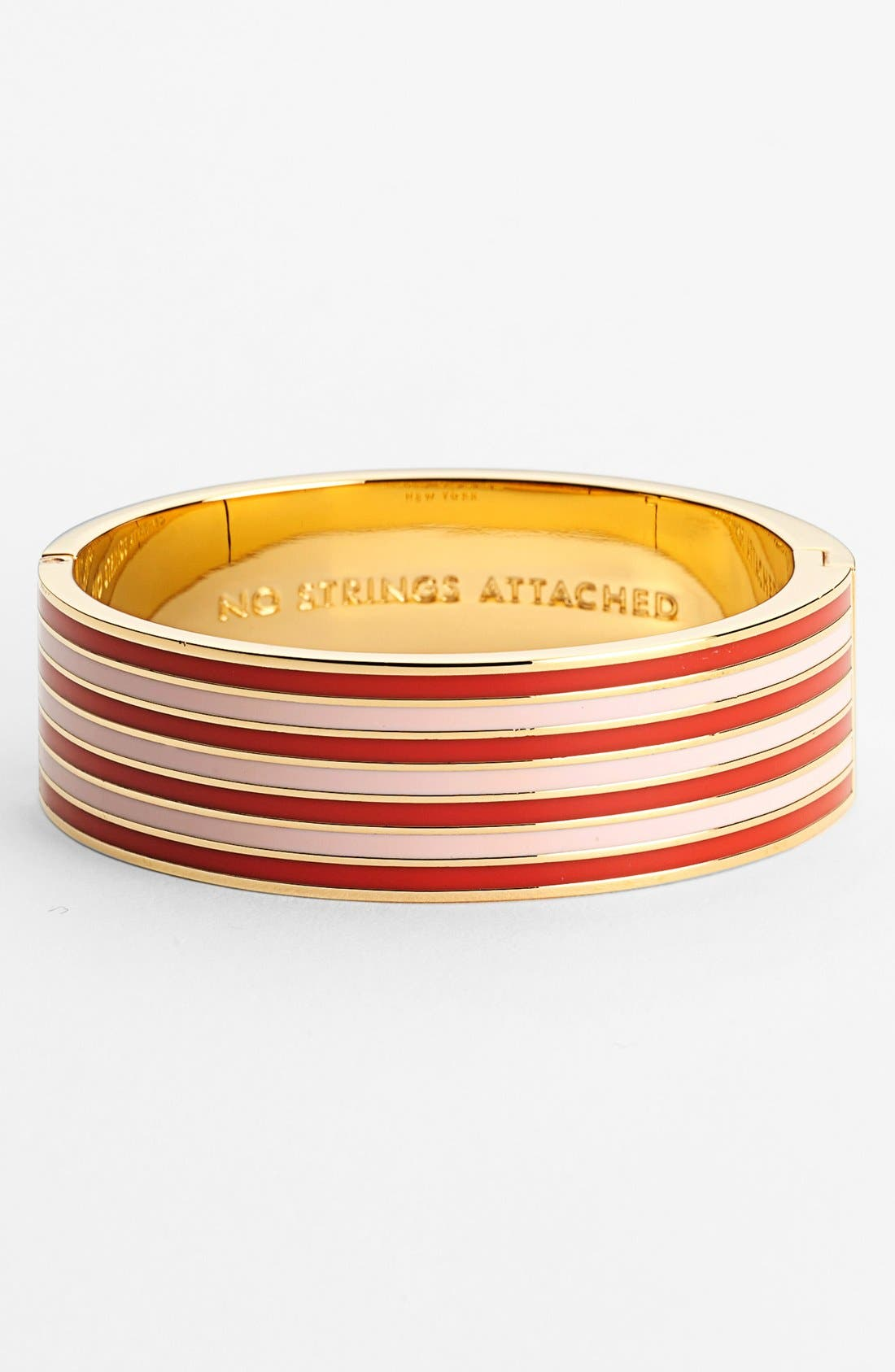 Alternate Image 1 Selected - kate spade new york 'idiom - no strings attached' hinged bangle