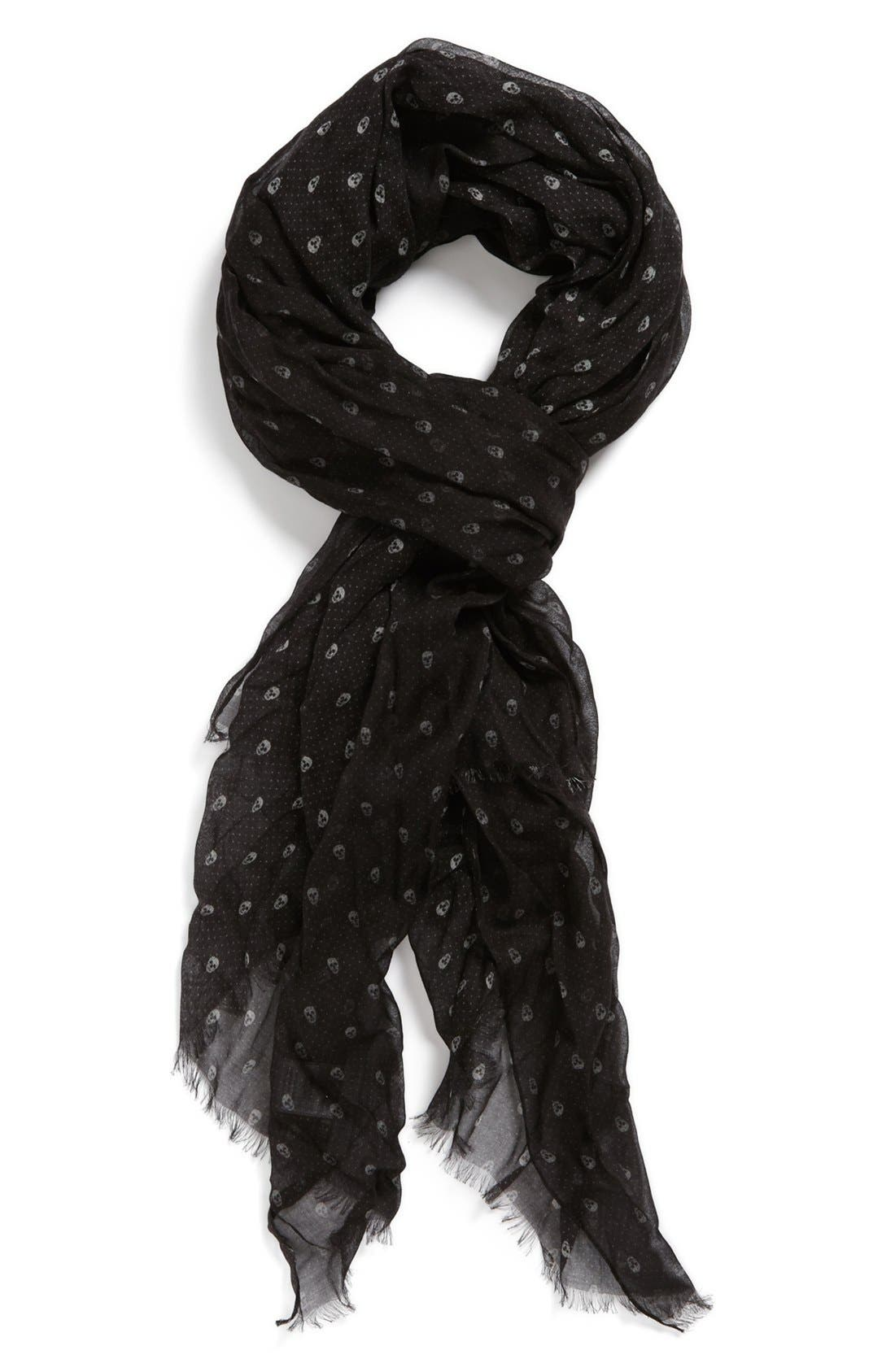 John Varvatos Collection Mini Skull Dot Scarf