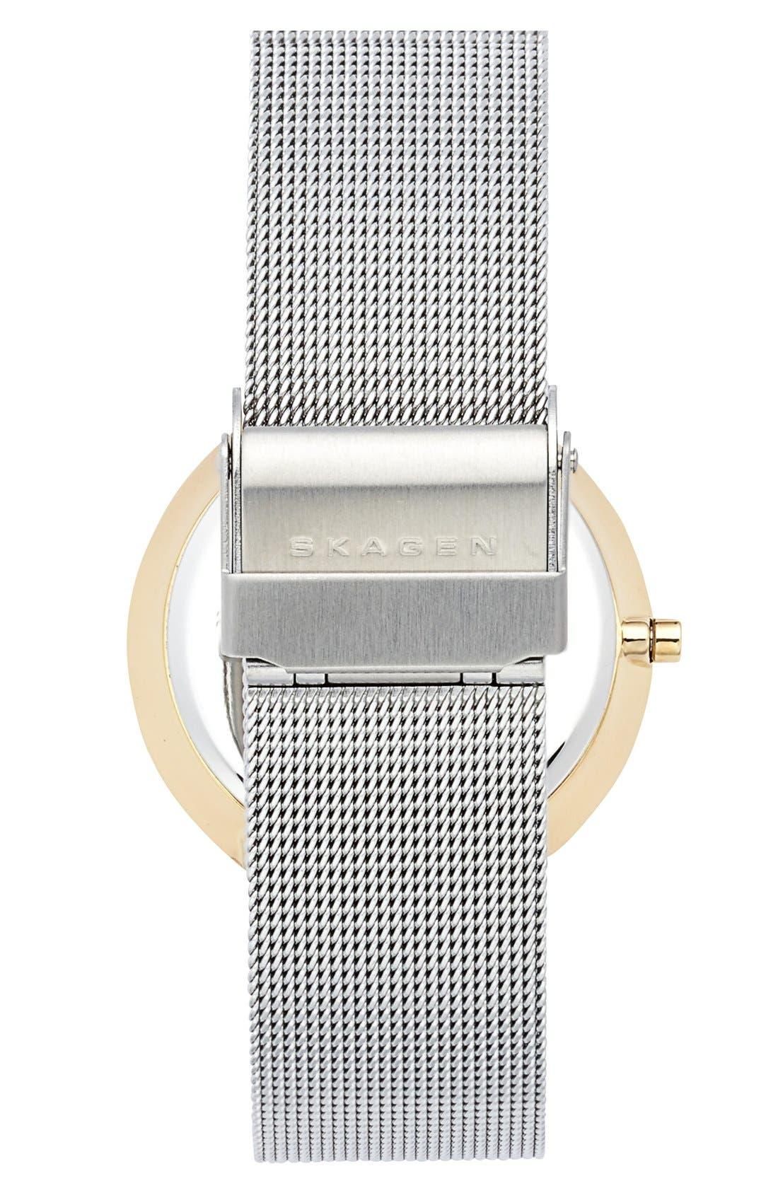 Alternate Image 2  - Skagen 'Leonora' Large Faceted Glass Bezel Watch, 34mm