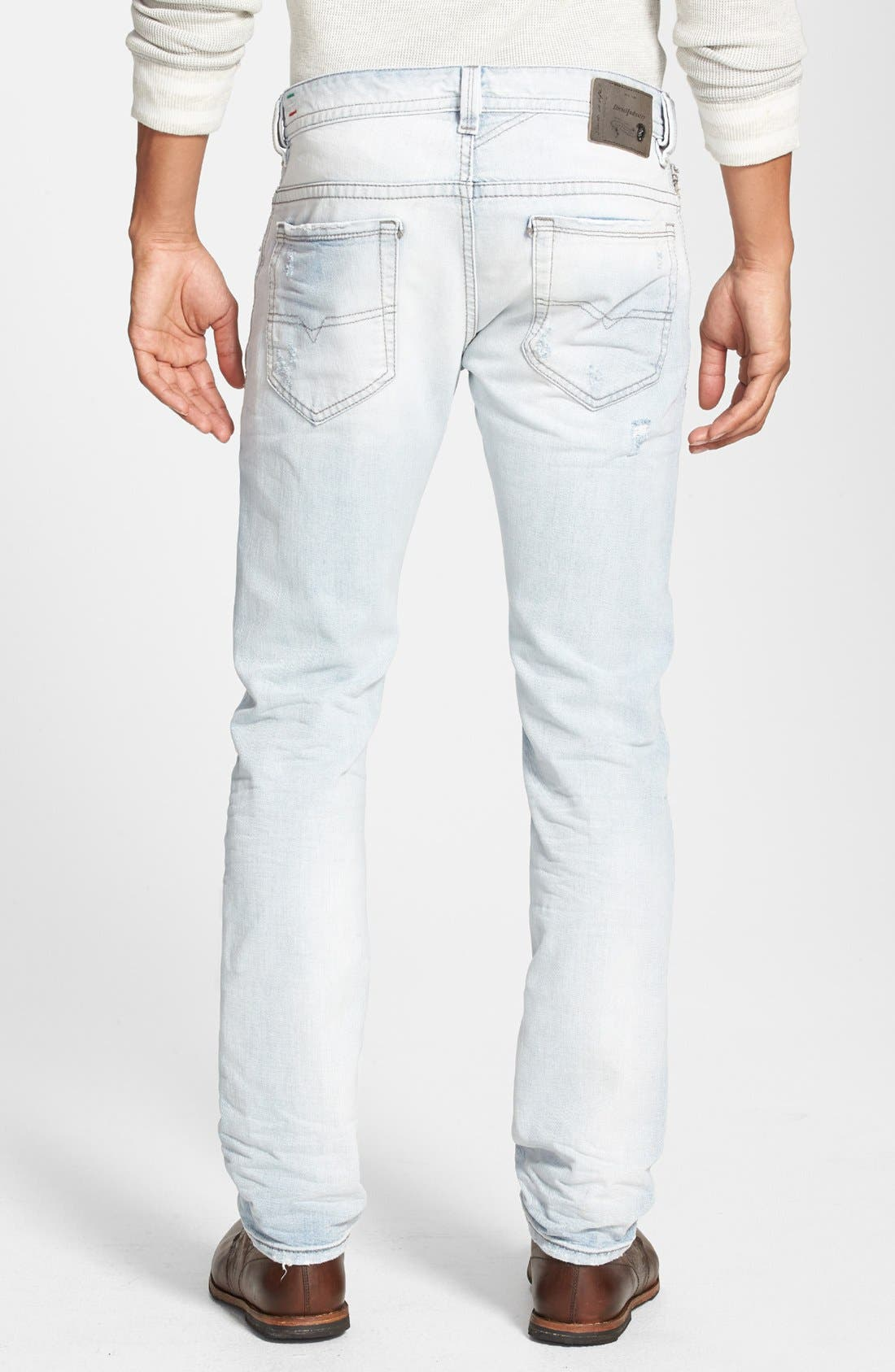 Alternate Image 2  - DIESEL® 'Thavar' Skinny Fit Jeans (0825M)