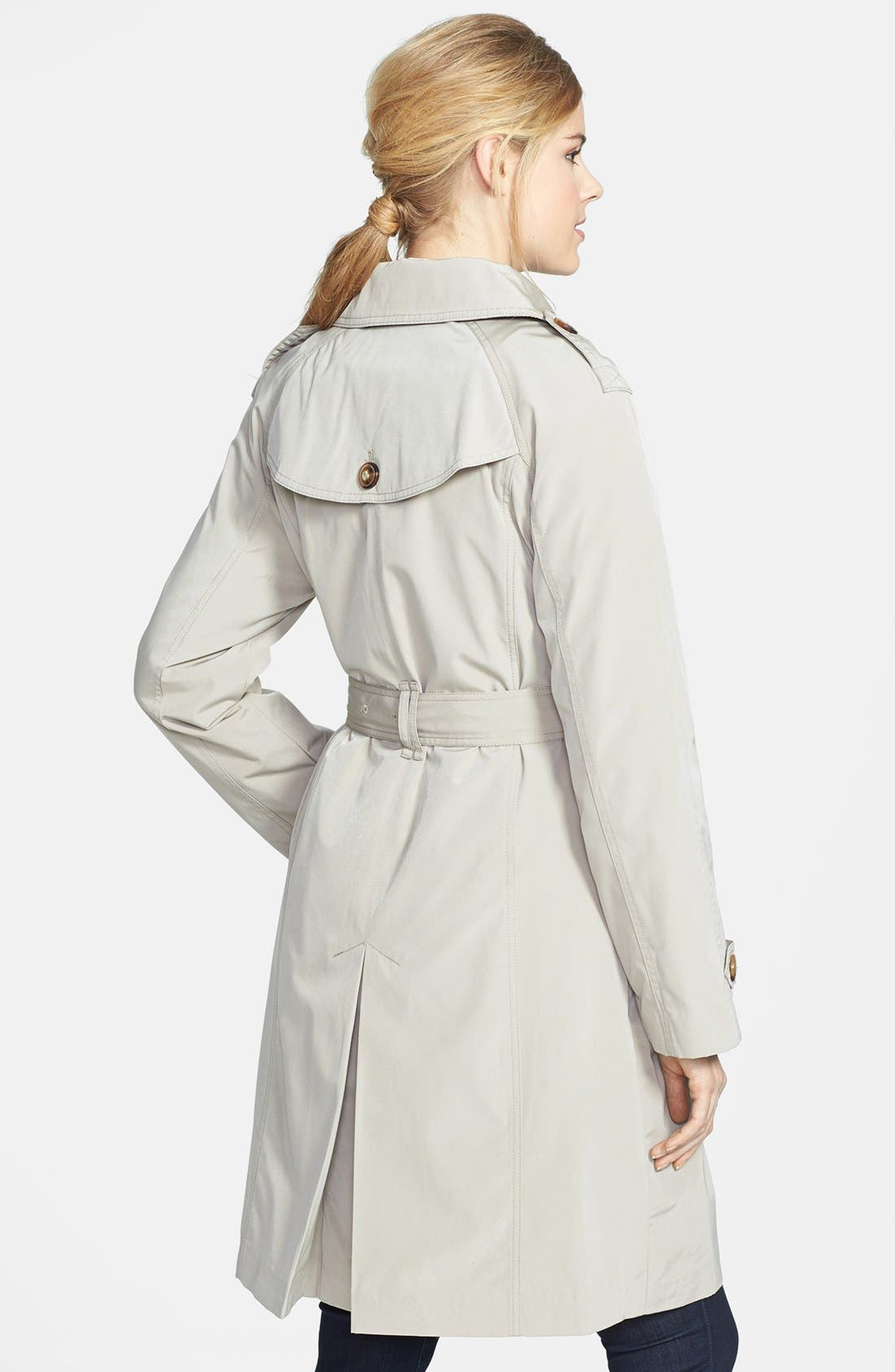 Alternate Image 2  - London Fog Double Breasted Trench Coat with Detachable Liner