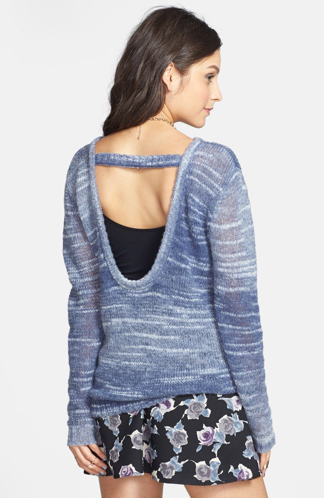 Alternate Image 2  - Rubbish® Open Back Space Dye Pullover (Juniors)