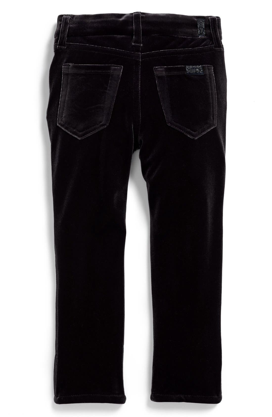 Alternate Image 1 Selected - 7 For All Mankind® 'The Skinny' Stretch Velveteen Jeans (Toddler Girls)