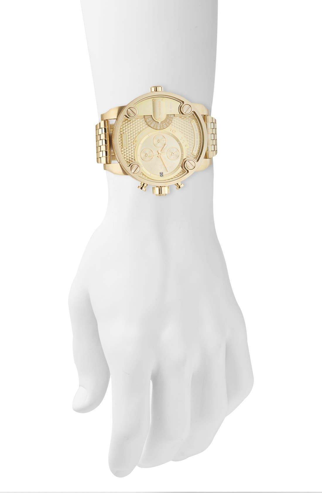 Alternate Image 4  - DIESEL® 'Little Daddy' Chronograph Bracelet Watch, 51mm