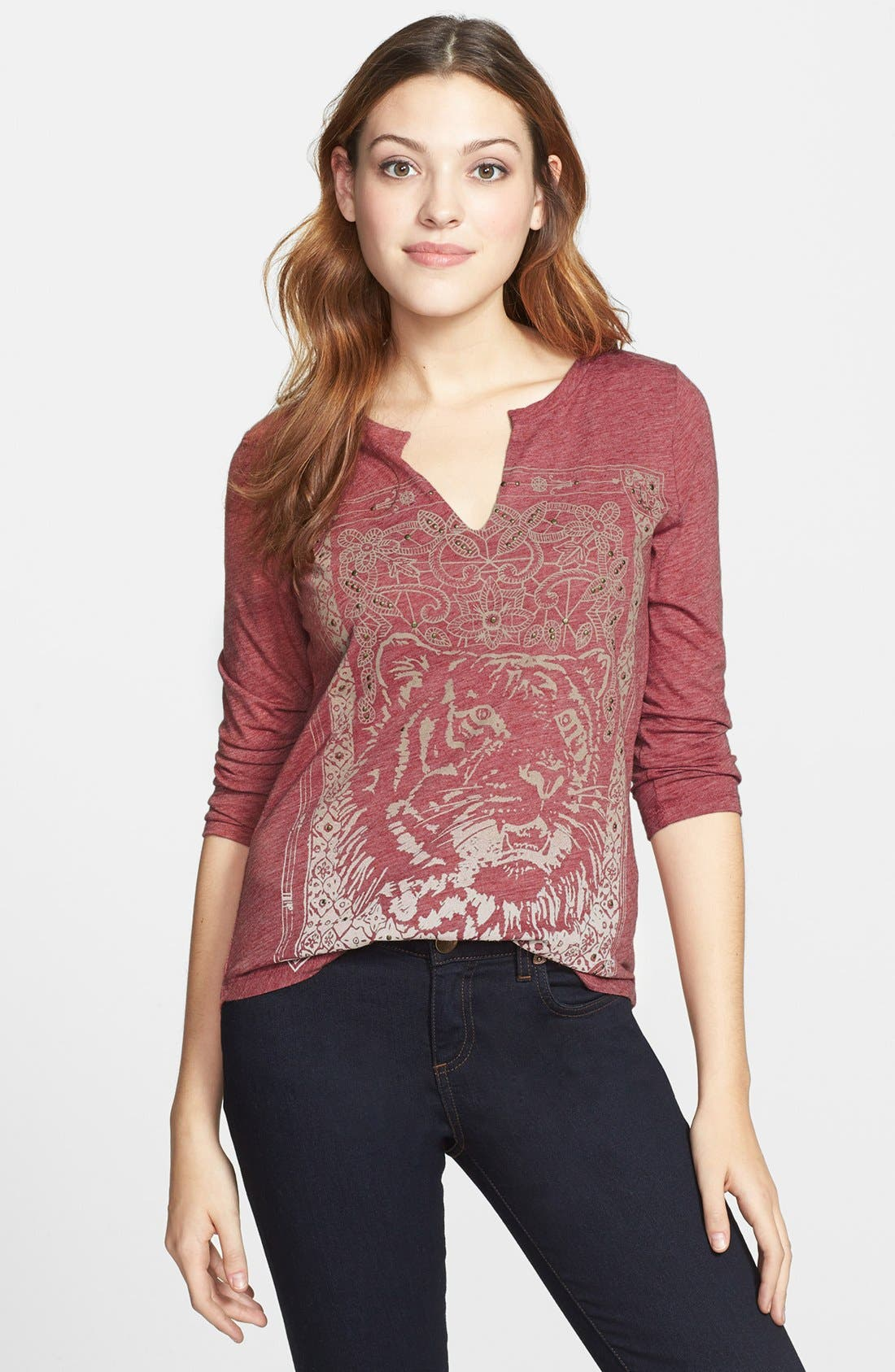 Alternate Image 1 Selected - Lucky Brand Indian Tiger Tee