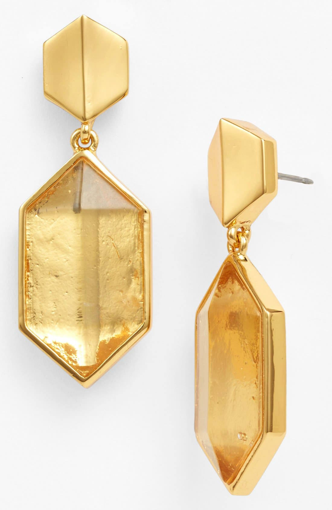 Alternate Image 1 Selected - Vince Camuto 'Clearview' Hexagon Drop Earrings