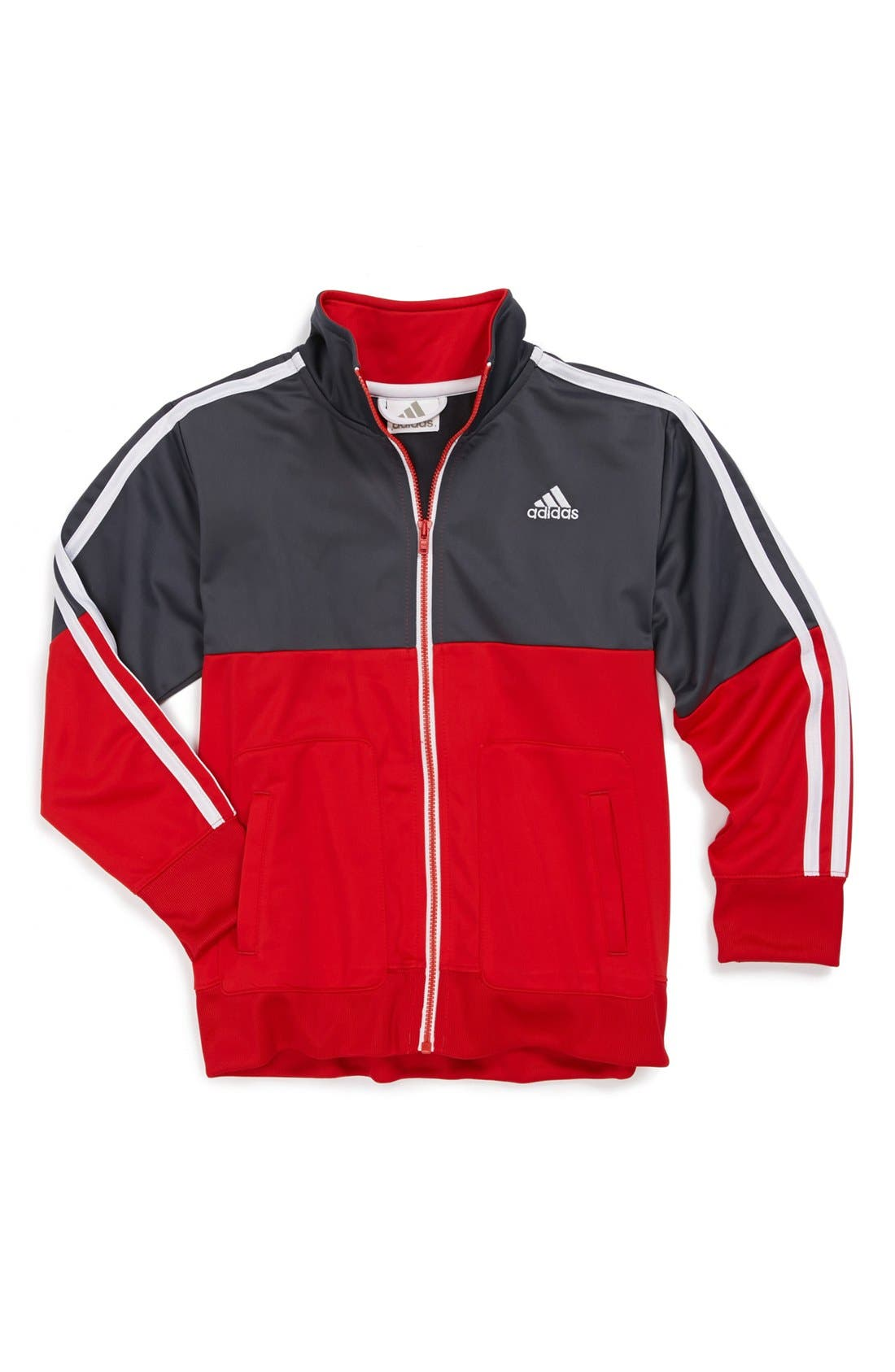 Main Image - adidas 'Divide & Conquer' Tricot Jacket (Little Boys)