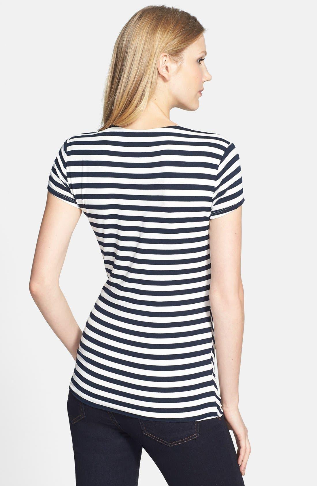 Alternate Image 2  - Vince Camuto 'Marina Stripe' Asymmetrical Top (Regular & Petite)