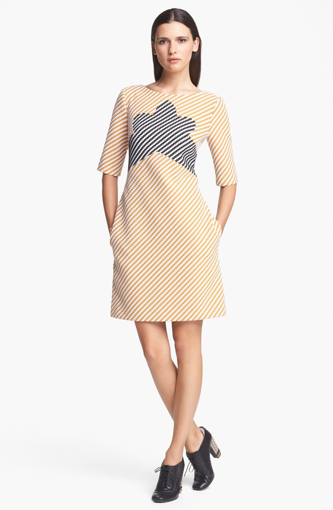 Alternate Image 1 Selected - Carven Zigzag Tweed Dress