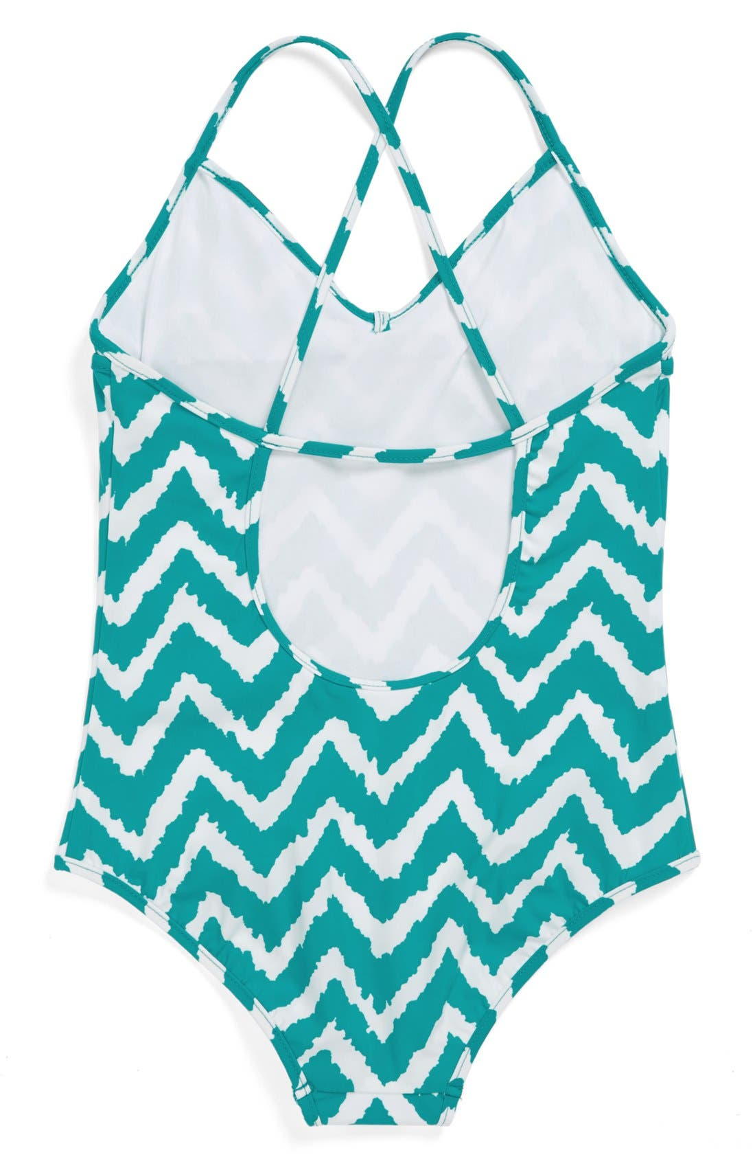 Alternate Image 2  - Milly Minis Zigzag One-Piece Swimsuit (Toddler Girls, Little Girls & Big Girls)