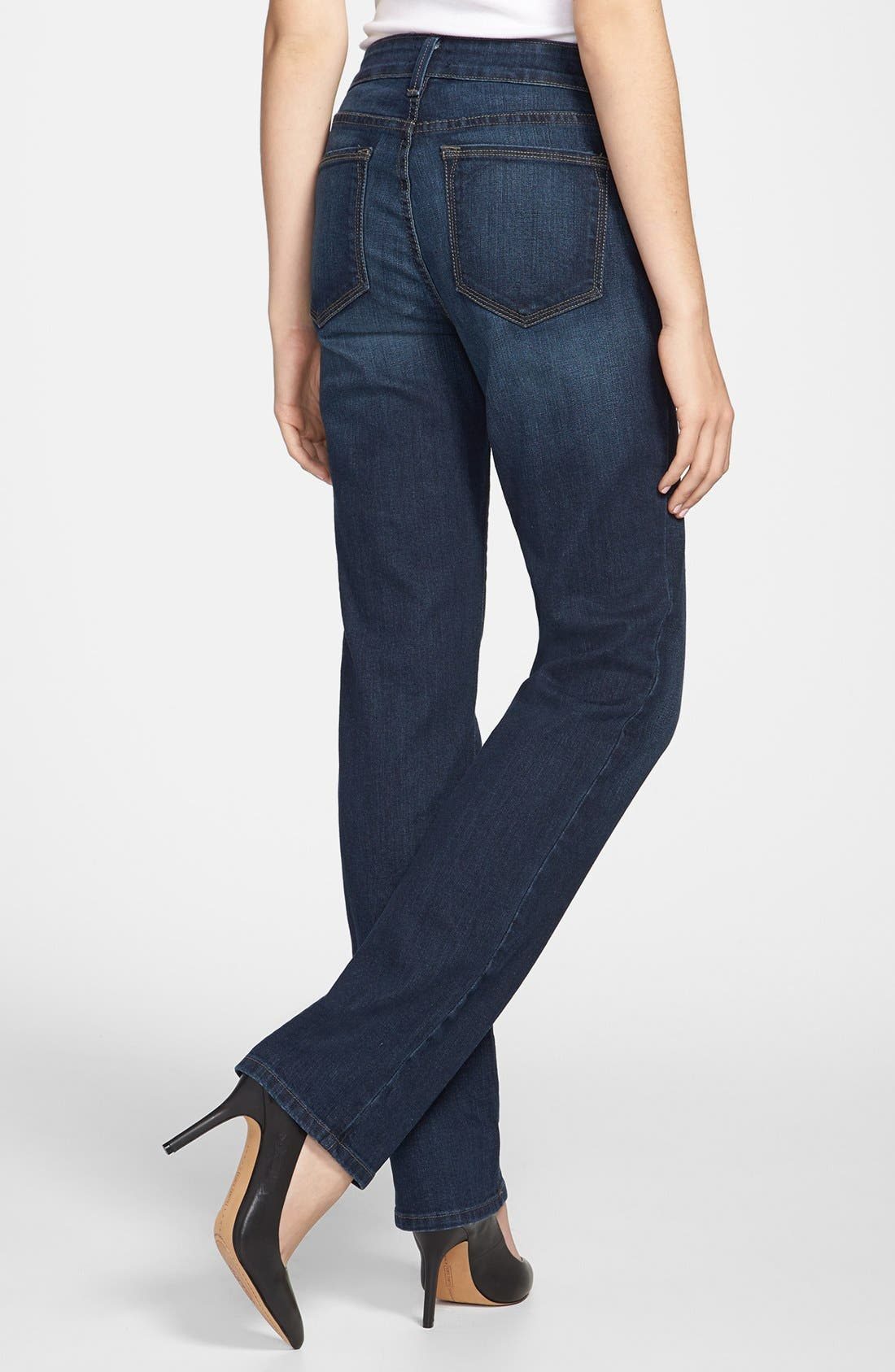 Alternate Image 2  - NYDJ 'Marilyn' Stretch Straight Leg Jeans (Tustin) (Regular & Petite)