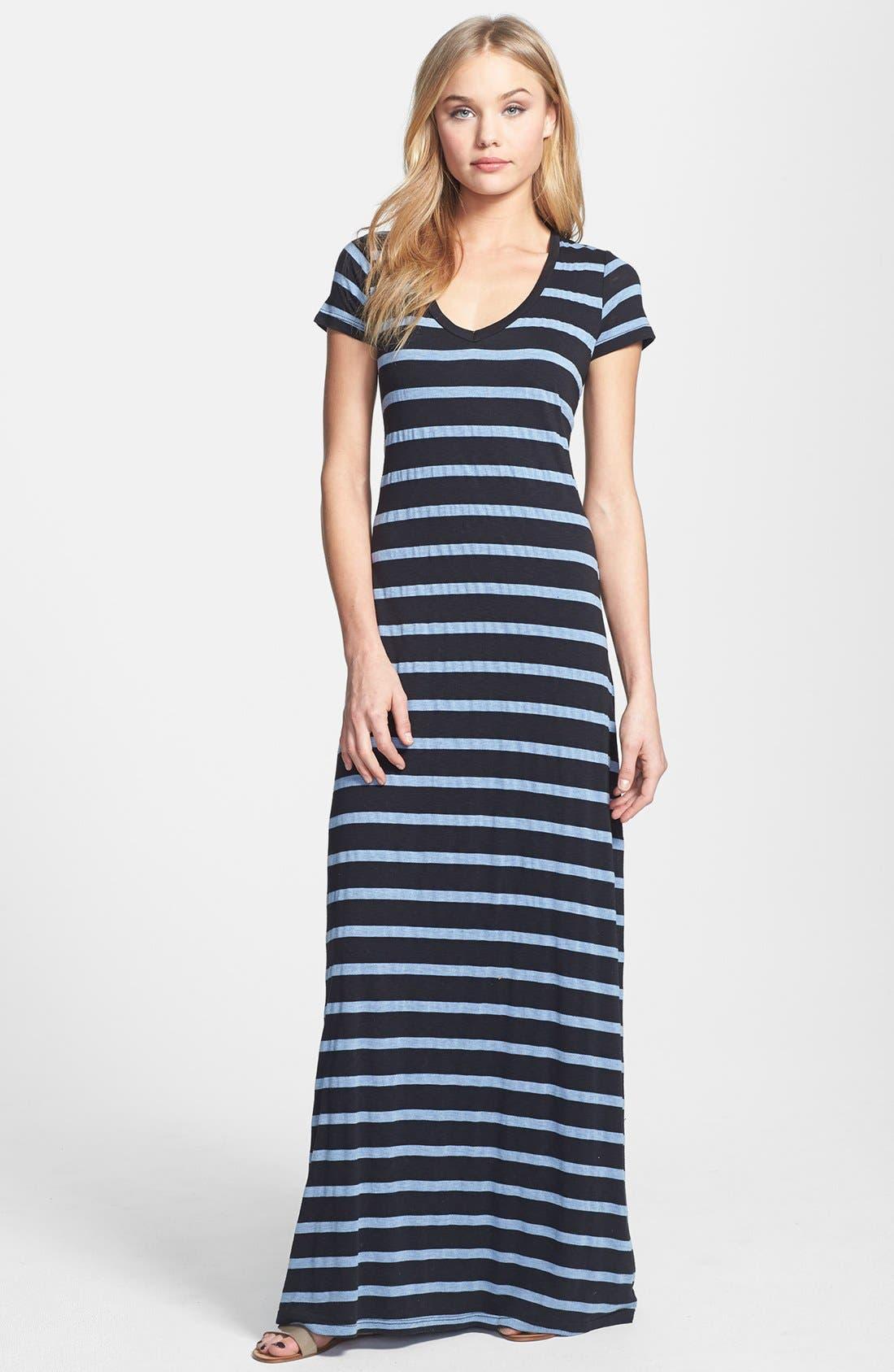 Main Image - Splendid Stripe V-Neck Maxi Dress