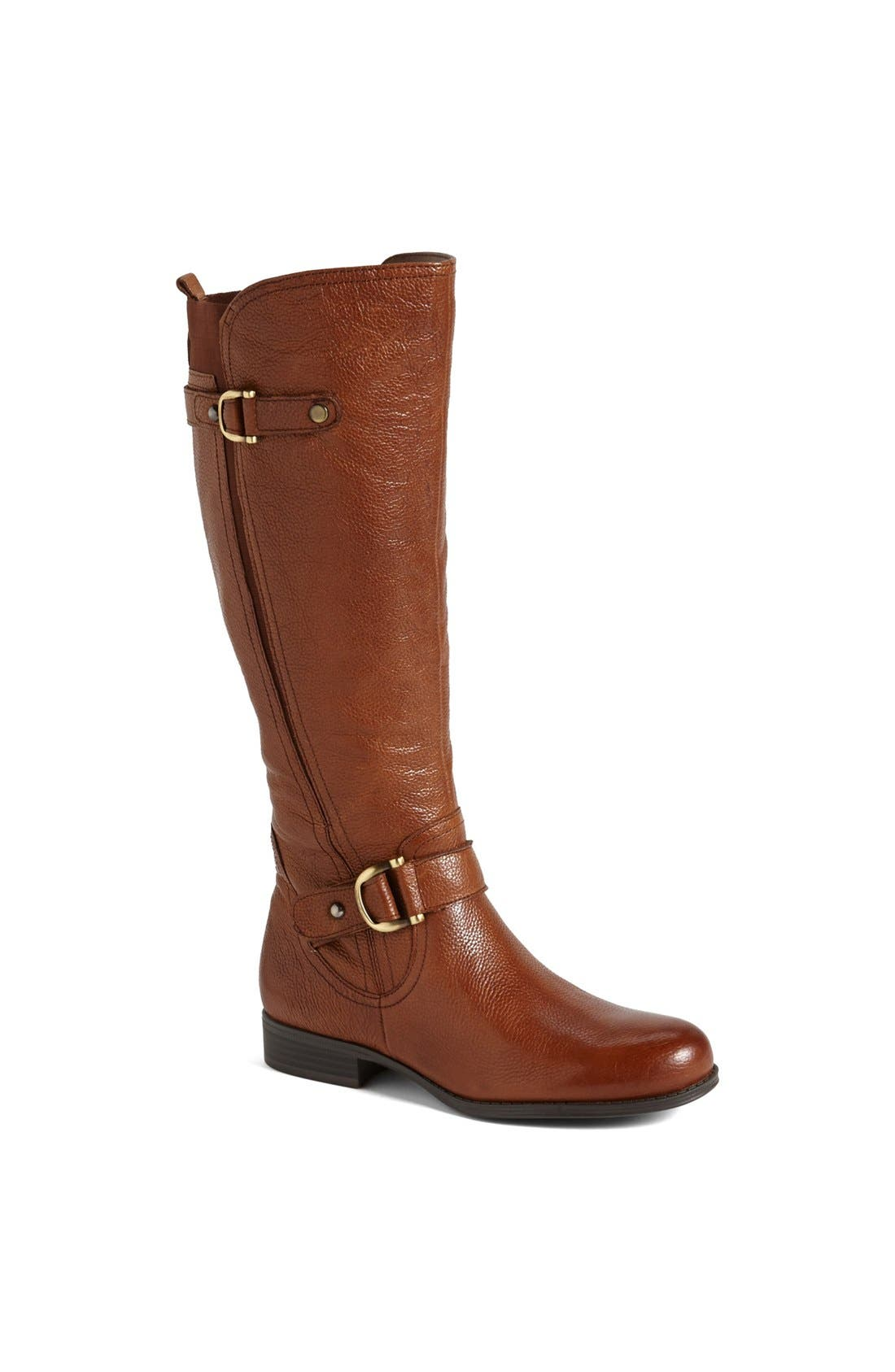 Main Image - Naturalizer 'Jersey' Leather Riding Boot (Wide Calf) (Online Only)