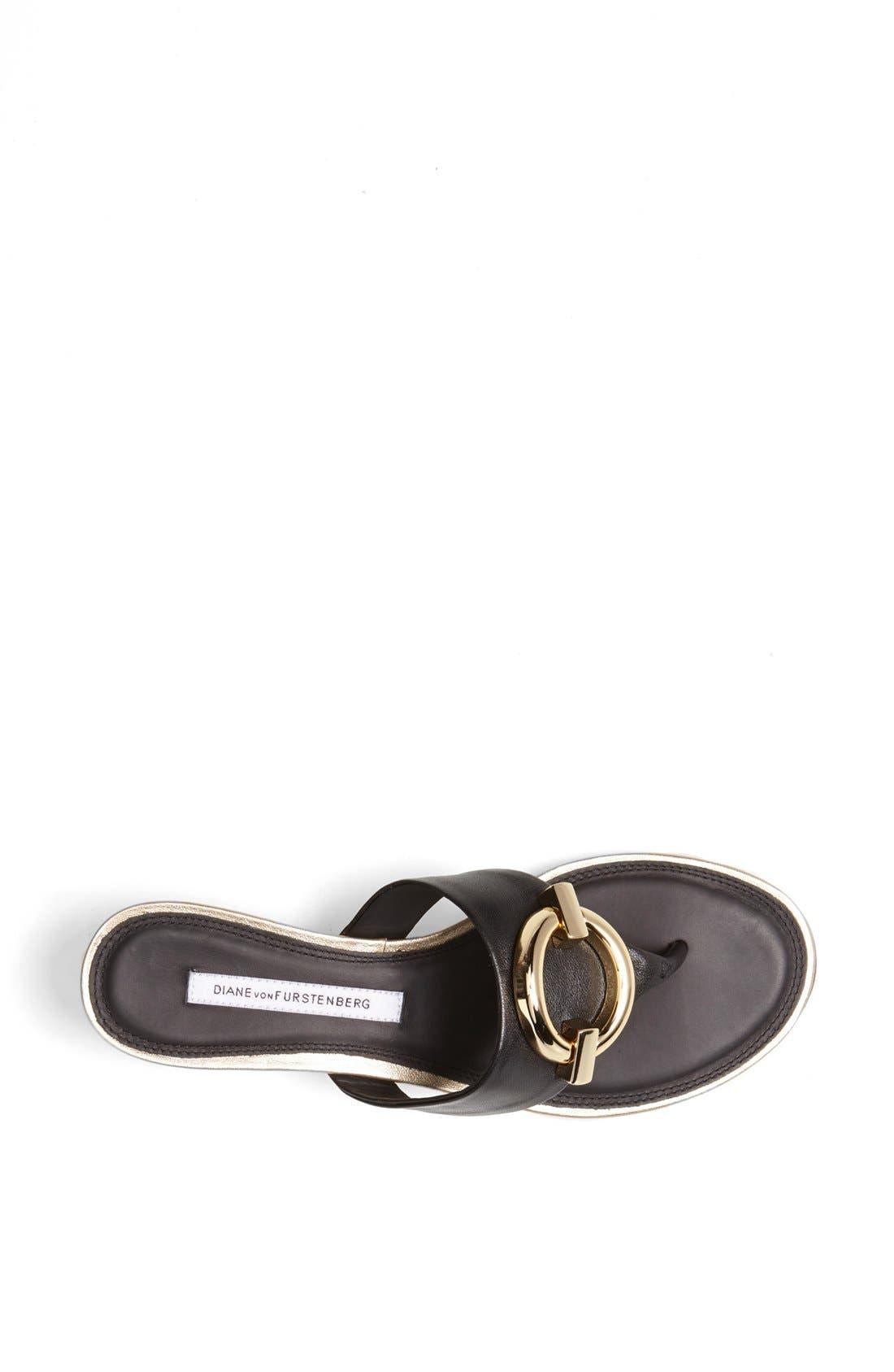 Alternate Image 3  - Diane von Furstenberg 'Tiles' Leather Sandal