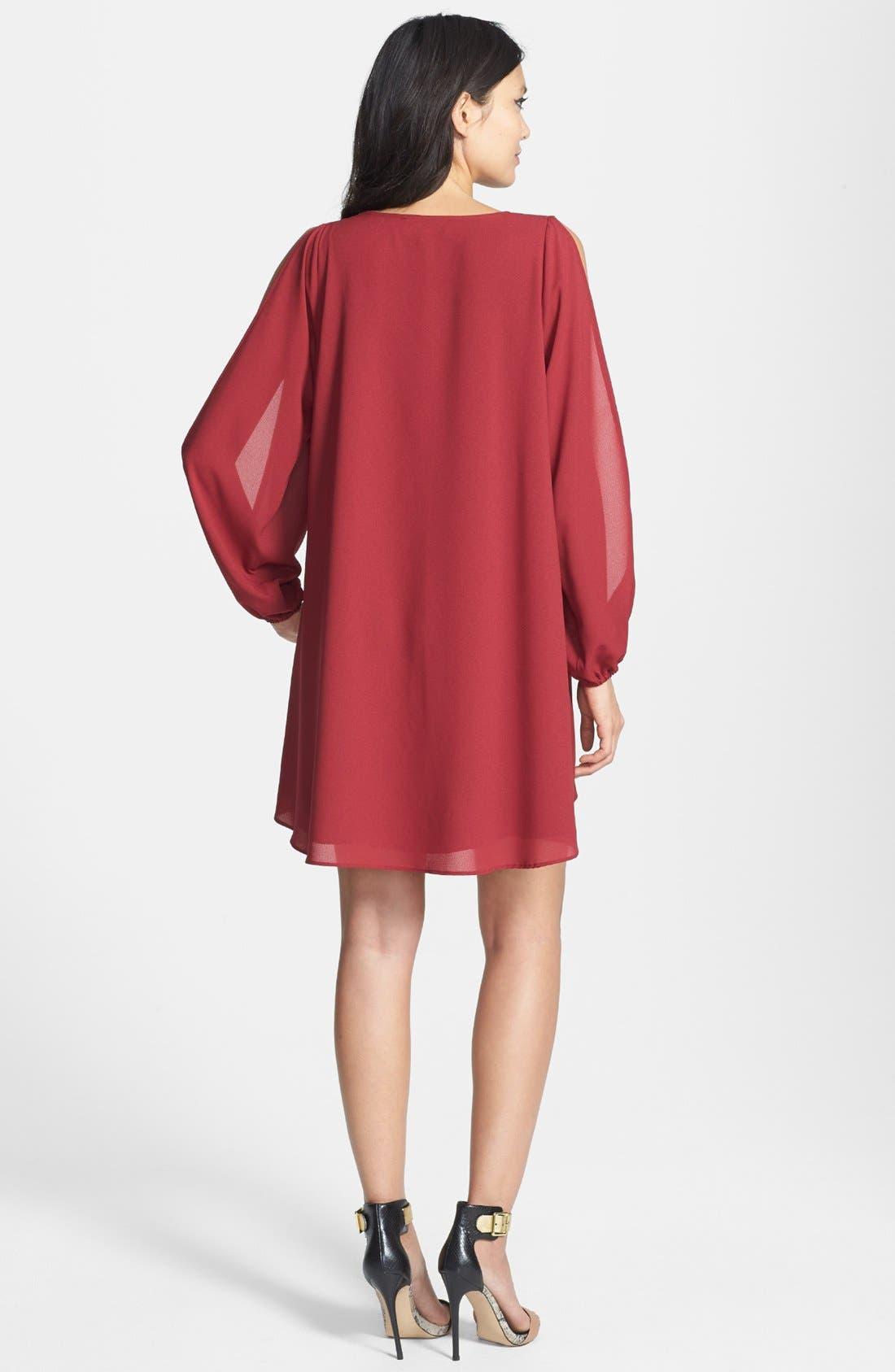 Alternate Image 2  - L is for Lover 'Gracie' Split Sleeve Mini Dress