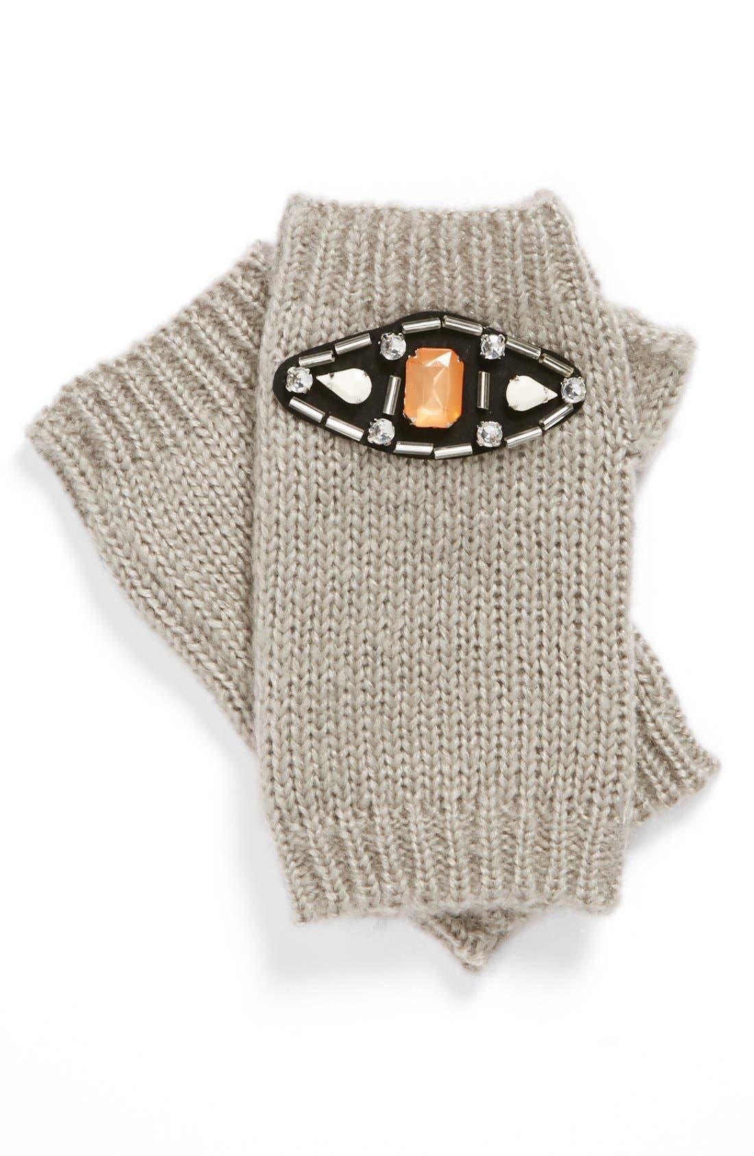 Alternate Image 1 Selected - Tildon Jeweled Fingerless Gloves
