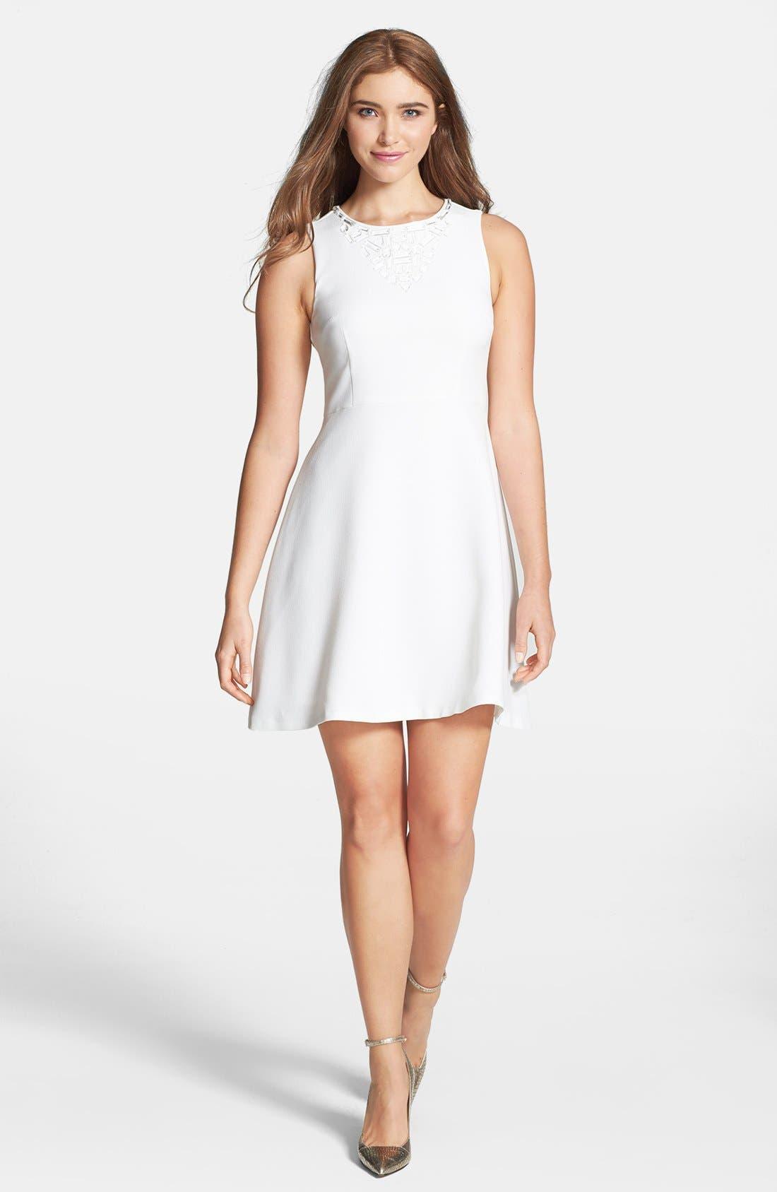 Alternate Image 1 Selected - Trina Turk 'Aldine' Crepe Fit & Flare Dress
