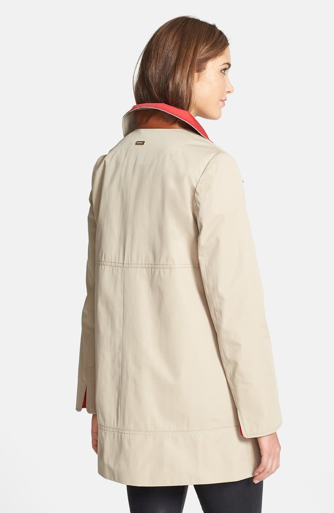 Alternate Image 2  - Ellen Tracy Contrast Lined A-Line Raincoat (Online Only)