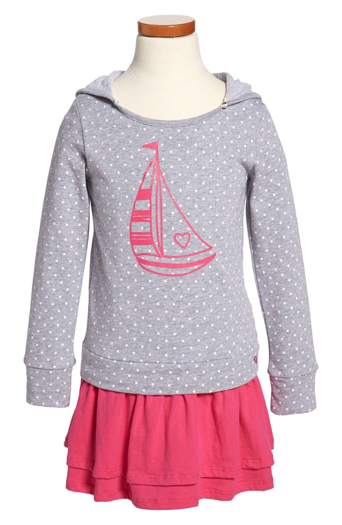 Main Image - Roxy 'West Port' Hooded Dress (Little Girls & Big Girls)