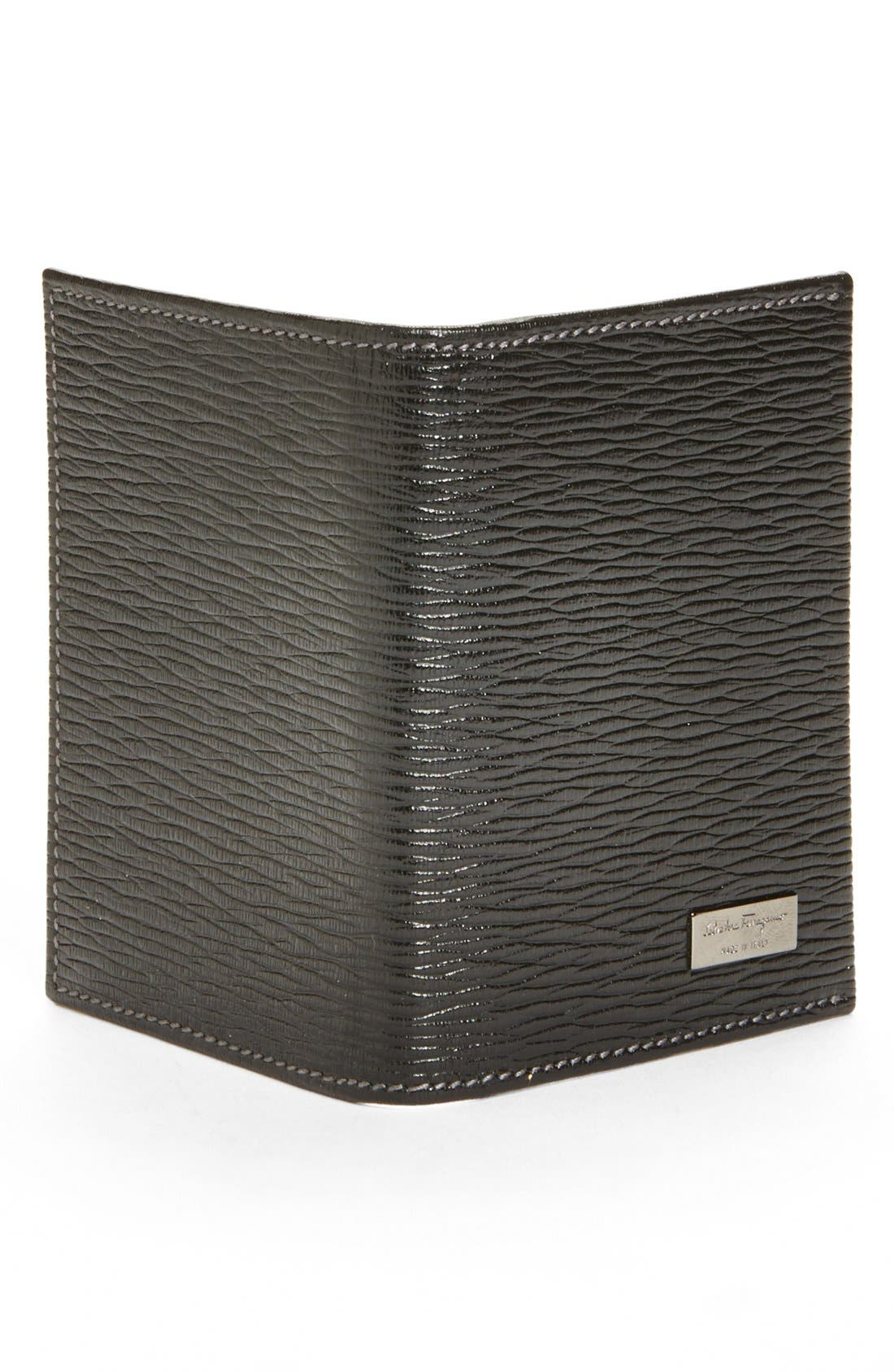Alternate Image 3  - Salvatore Ferragamo Stamped Calf Card Wallet