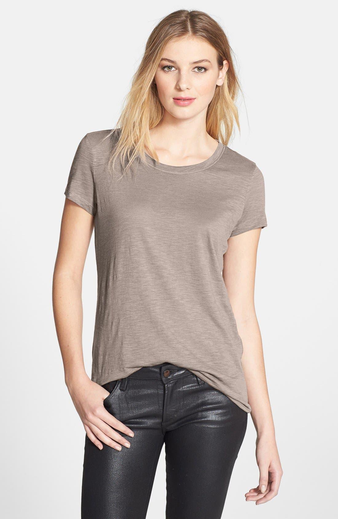 Alternate Image 1 Selected - Caslon® Short Sleeve Cotton & Modal Tee (Regular & Petite)