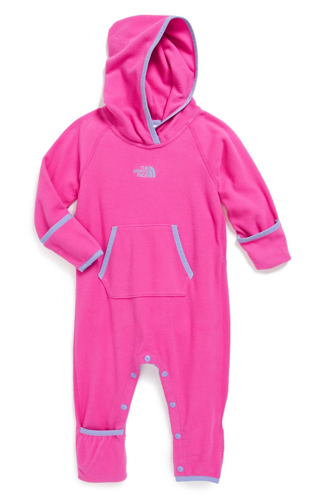 Alternate Image 1 Selected - The North Face 'Glacier' Fleece Bunting (Baby Girls)