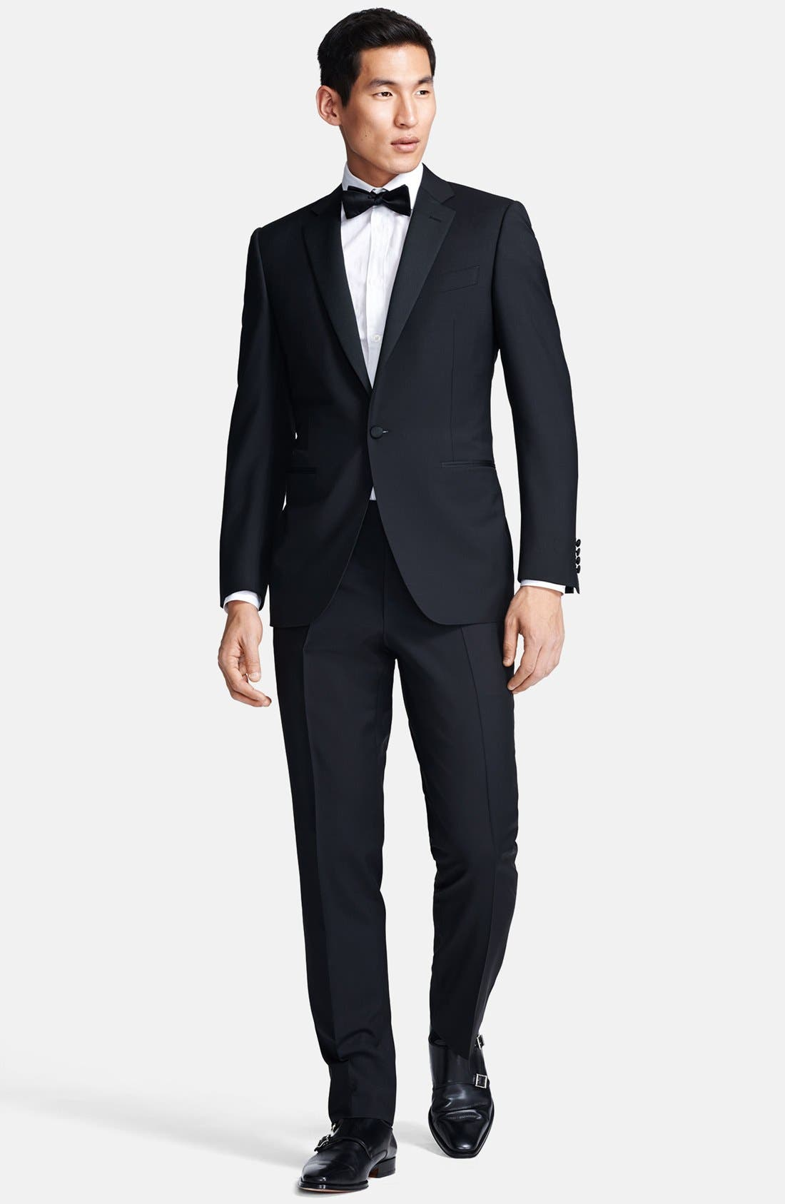 Alternate Image 1 Selected - Canali Trim Fit Wool/Mohair Tuxedo