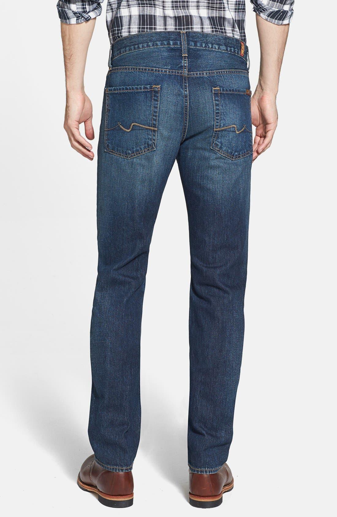 Alternate Image 2  - 7 For All Mankind® 'Slimmy' Slim Fit Jeans (Shibuya Road)