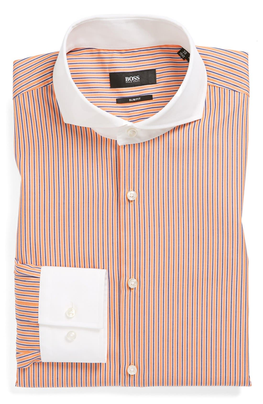 Alternate Image 1 Selected - BOSS HUGO BOSS 'Johan' Slim Fit Non-Iron Dress Shirt