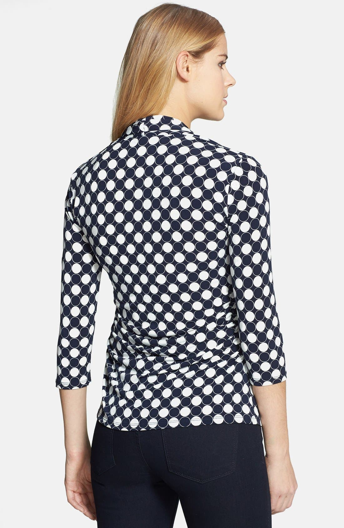 Alternate Image 2  - Vince Camuto 'Retro Dots' V-Neck Top (Regular & Petite)