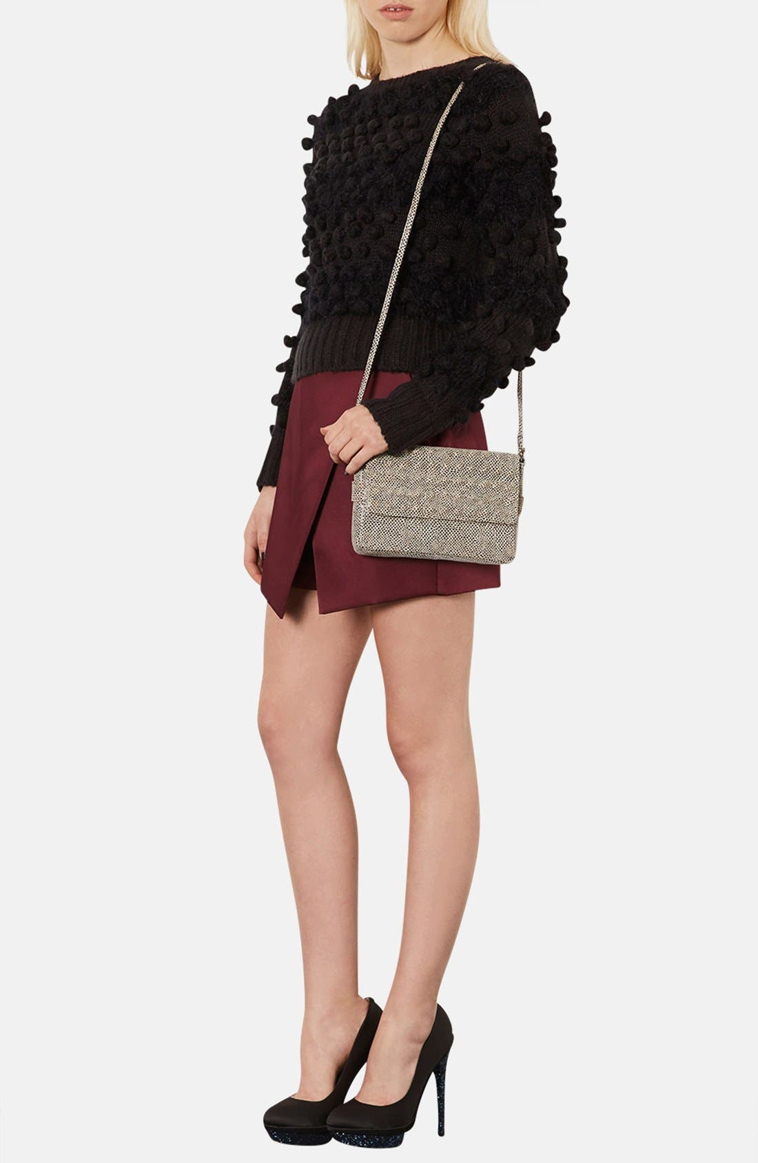 Alternate Image 2  - Topshop Snake Embossed Crossbody Bag