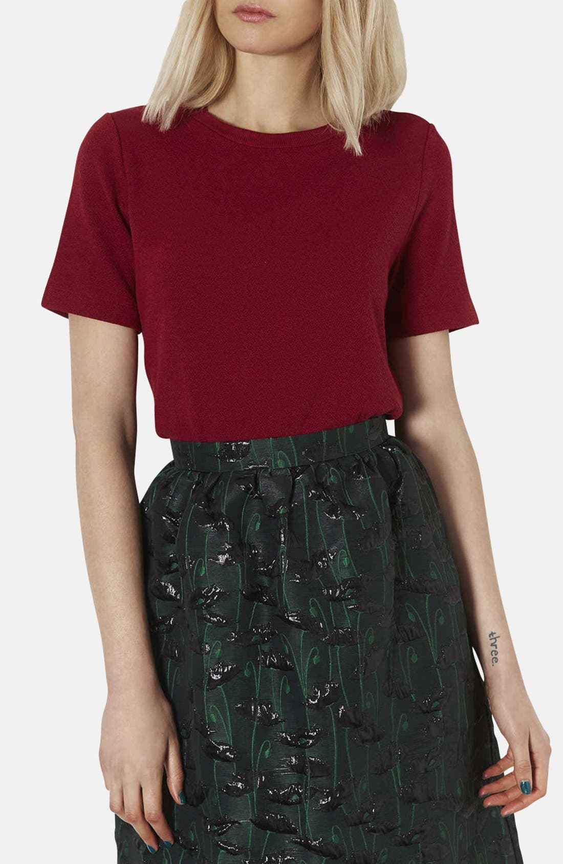 Alternate Image 1 Selected - Topshop Boxy Crepe Tee
