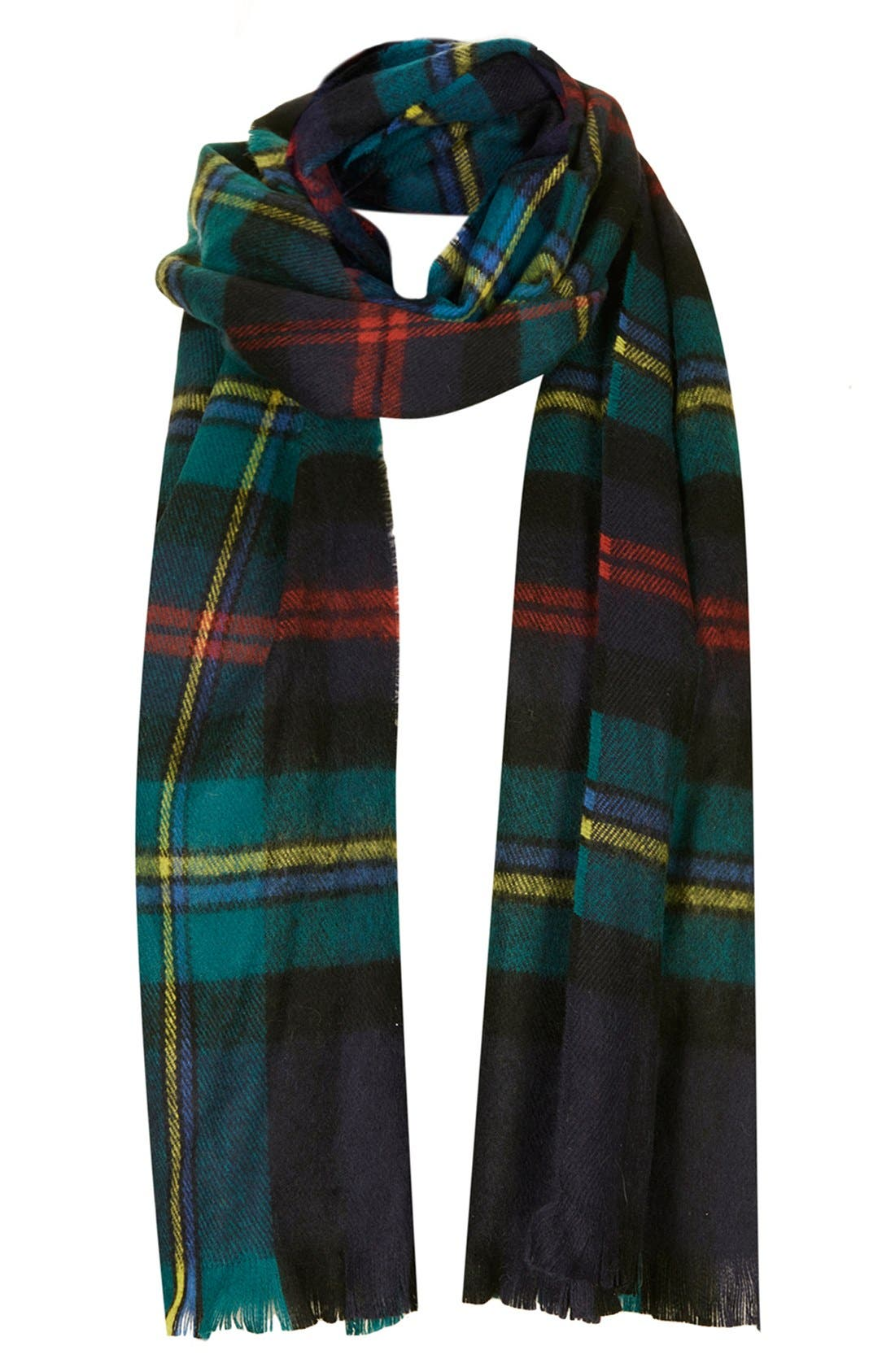 Alternate Image 1 Selected - Topshop 'New Traditional' Check Print Scarf