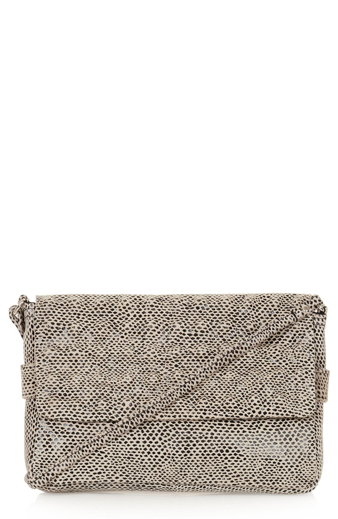 Alternate Image 1 Selected - Topshop Snake Embossed Crossbody Bag
