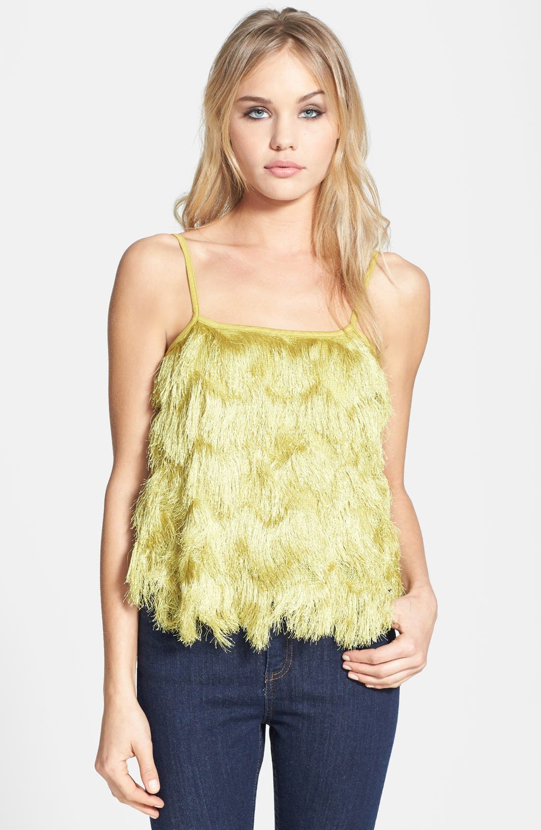 Alternate Image 1 Selected - Topshop Fringed Front Camisole