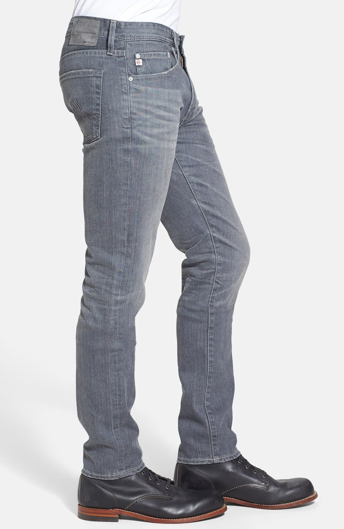 Alternate Image 3  - AG 'Dylan' Skinny Fit Jeans (9 Years Grey)