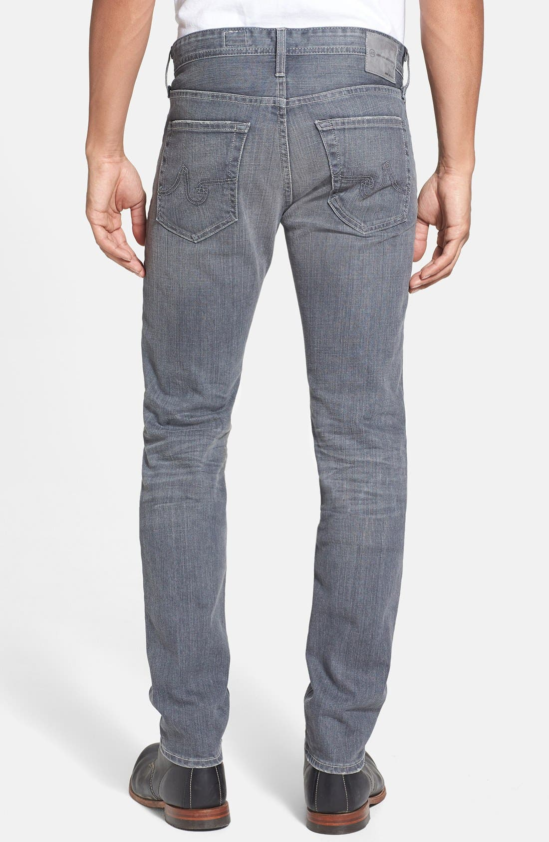 Alternate Image 2  - AG 'Dylan' Skinny Fit Jeans (9 Years Grey)