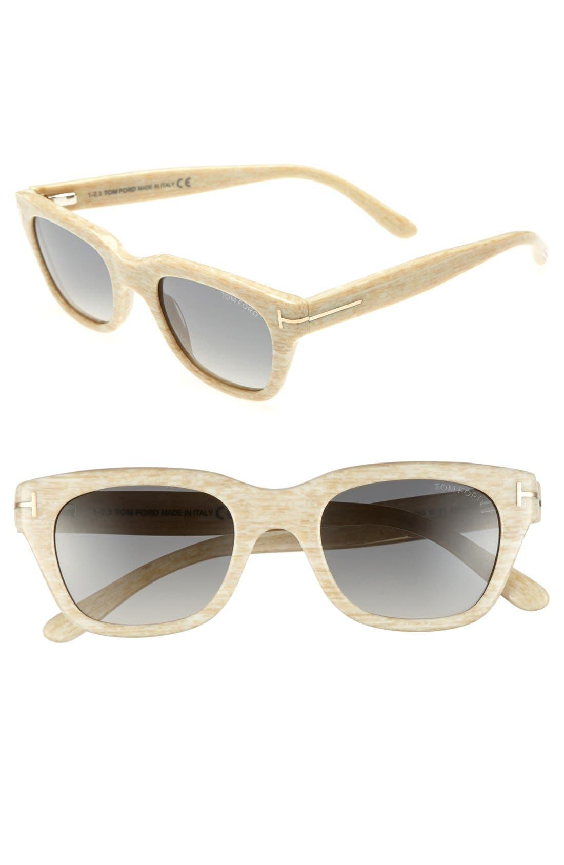 Alternate Image 1 Selected - Tom Ford 'Snowdon'50mm Sunglasses