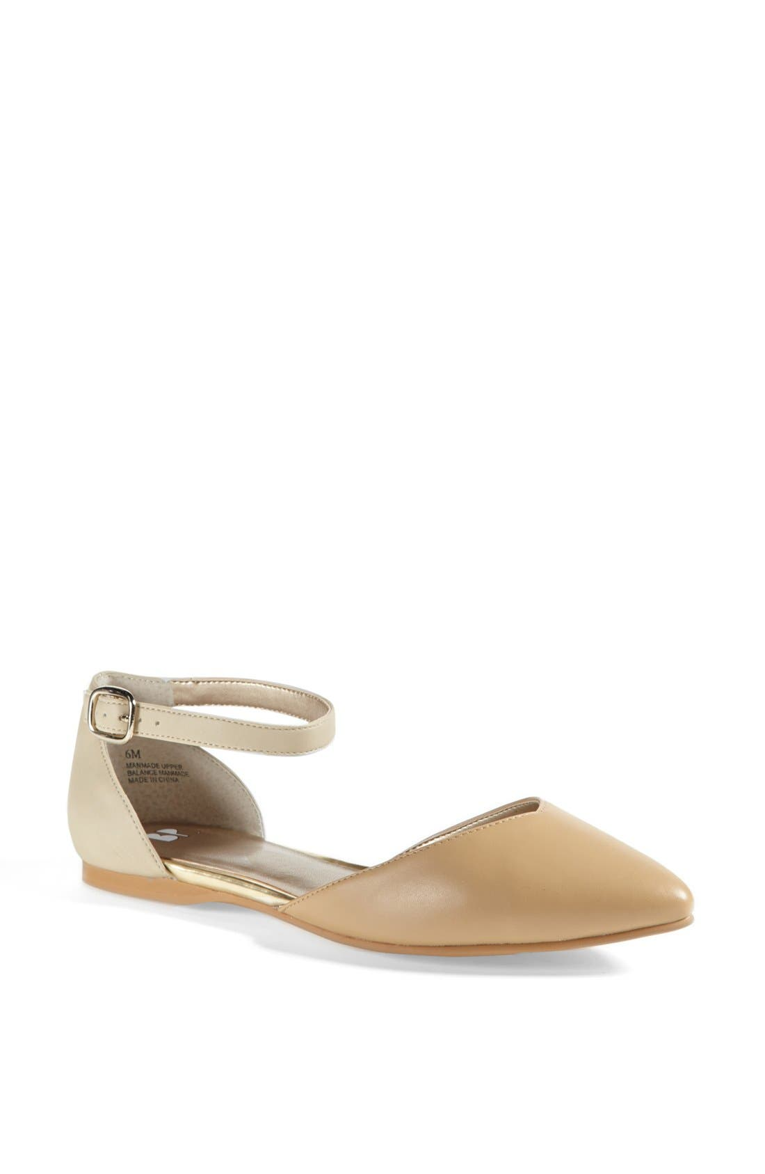 Alternate Image 1 Selected - BP. 'Gillie' Ankle Strap Flat