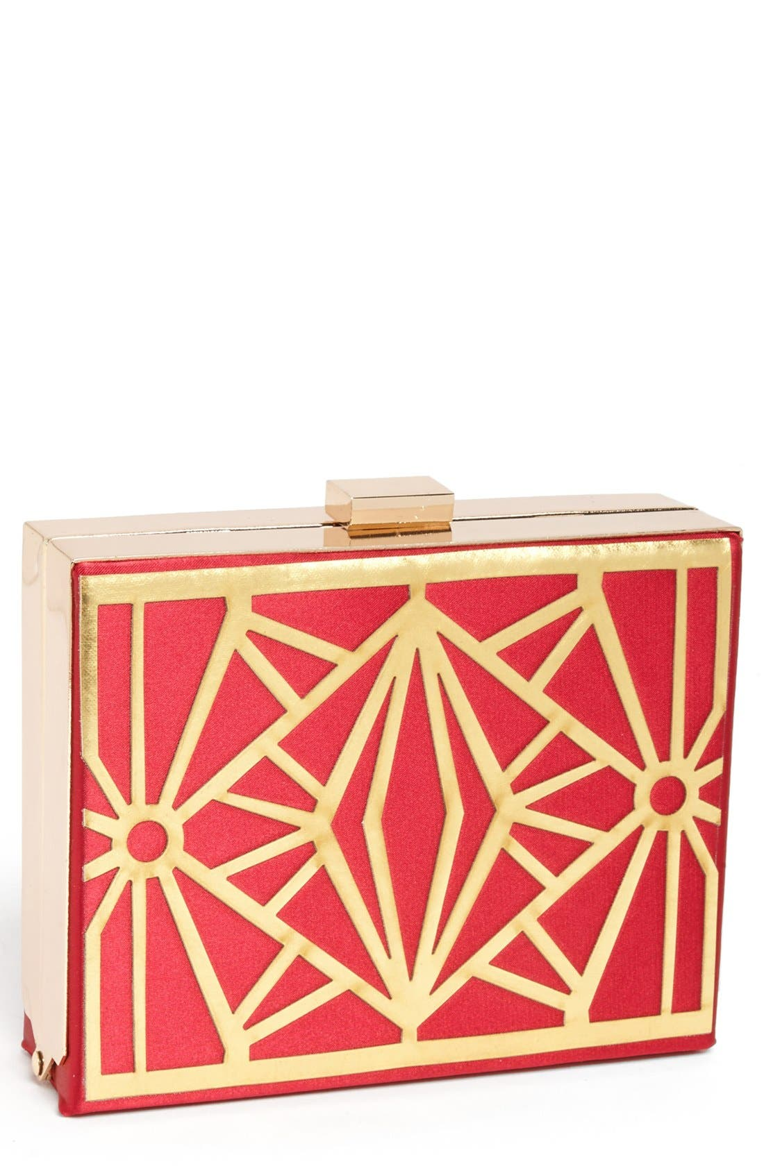 Main Image - Natasha Couture Metal Box Clutch